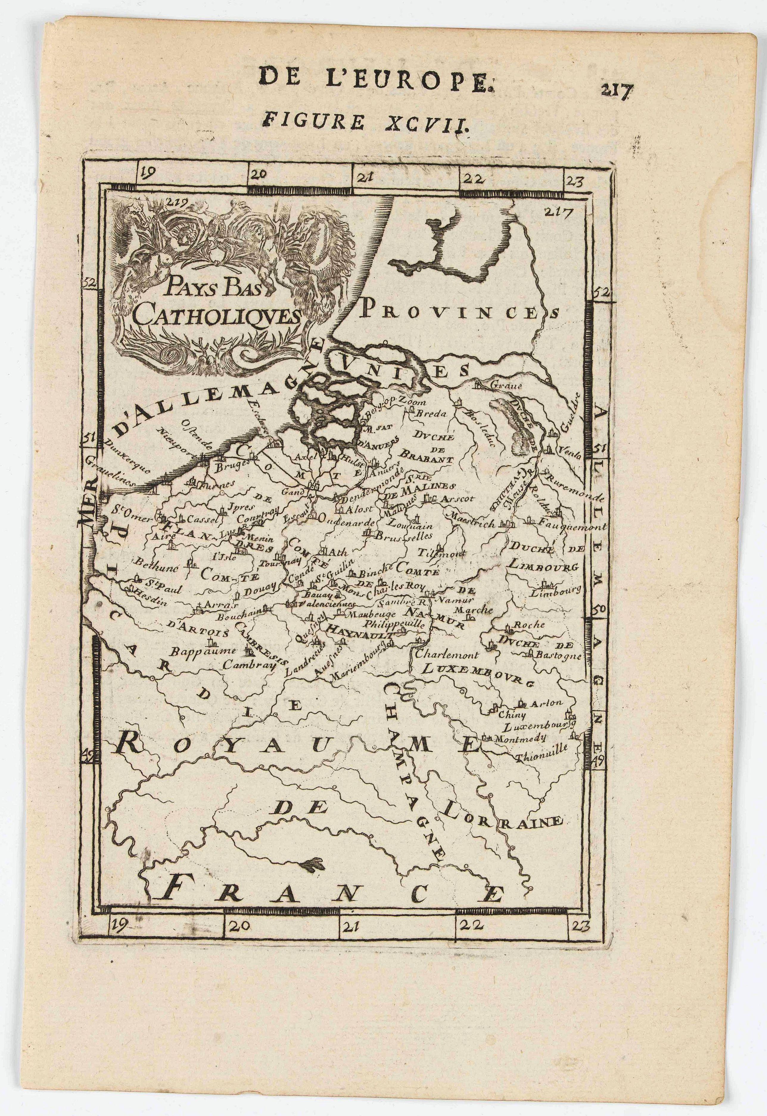 MANESSON MALLET, A. -  Pays-Bas Catholiques.