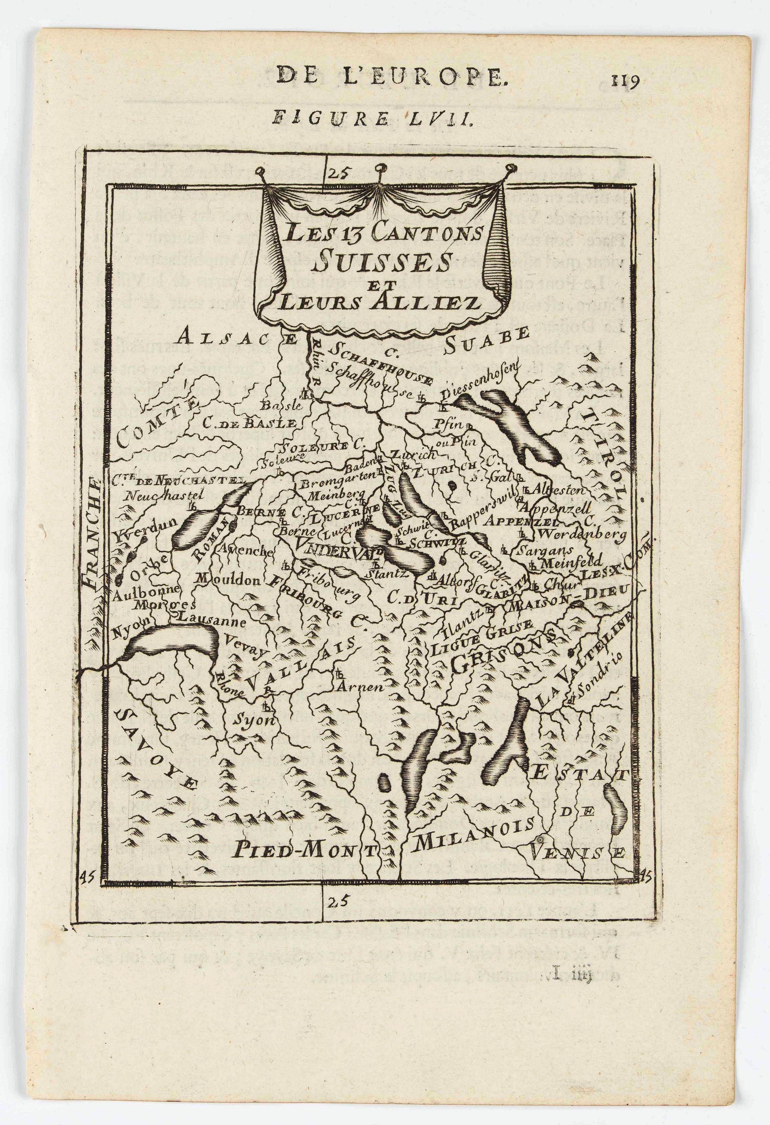 MANESSON MALLET, A. -  Les 13 cantons Suisses et leurs alliez.