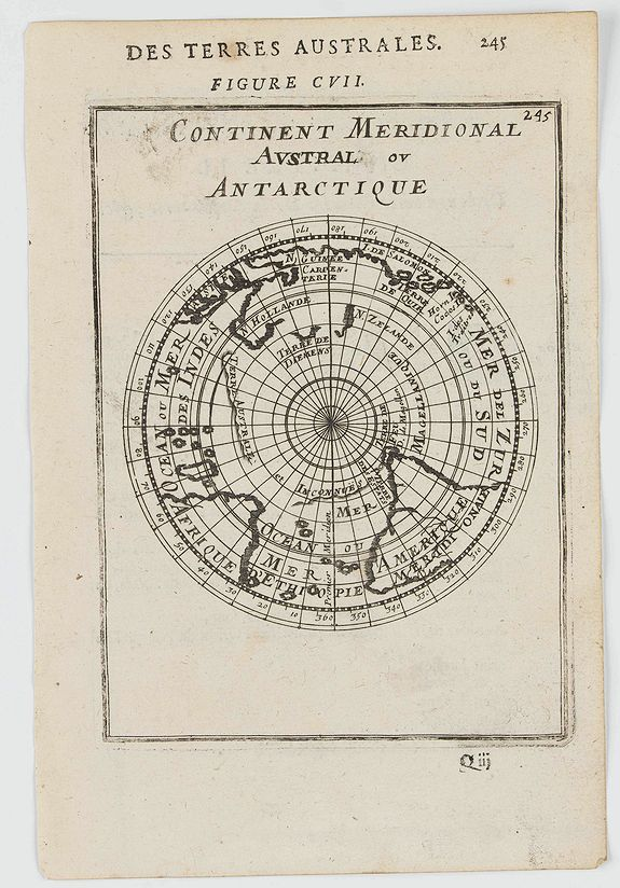 MANESSON MALLET, A. -  Continent Meridional Austral ou Antartique.