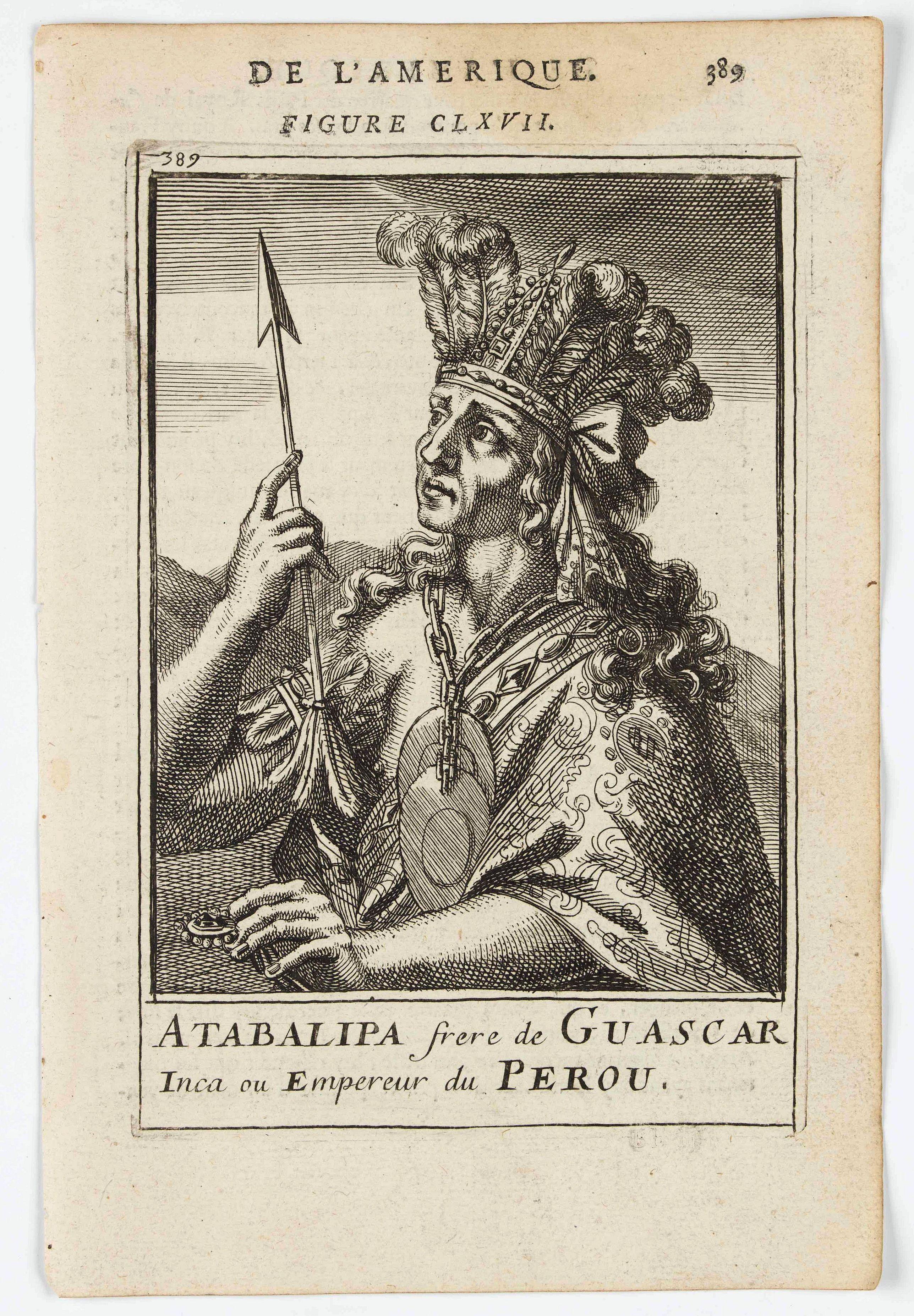 MANESSON MALLET, A. -  Atabalipa frere de Guascar Inca ou Empreur du Perou.