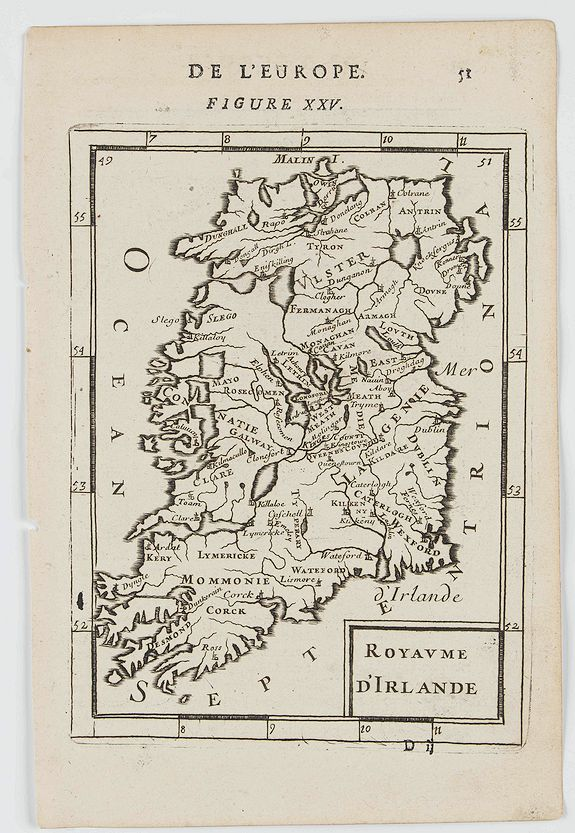 MANESSON MALLET, A. -  Royaume d'Irlande.