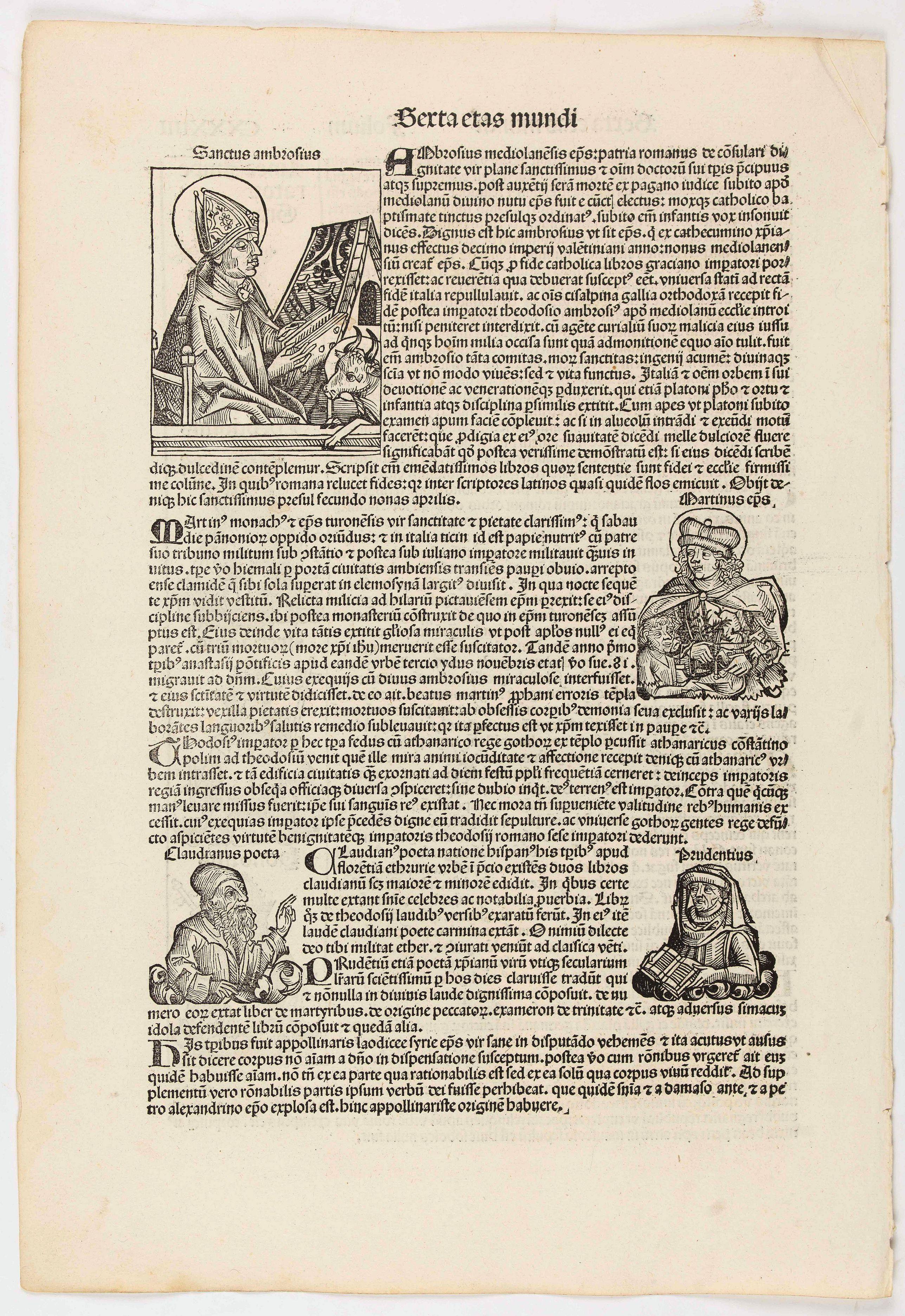 SCHEDEL, H. -  Sexta Etas Mundi. Folium. CXXXIIII