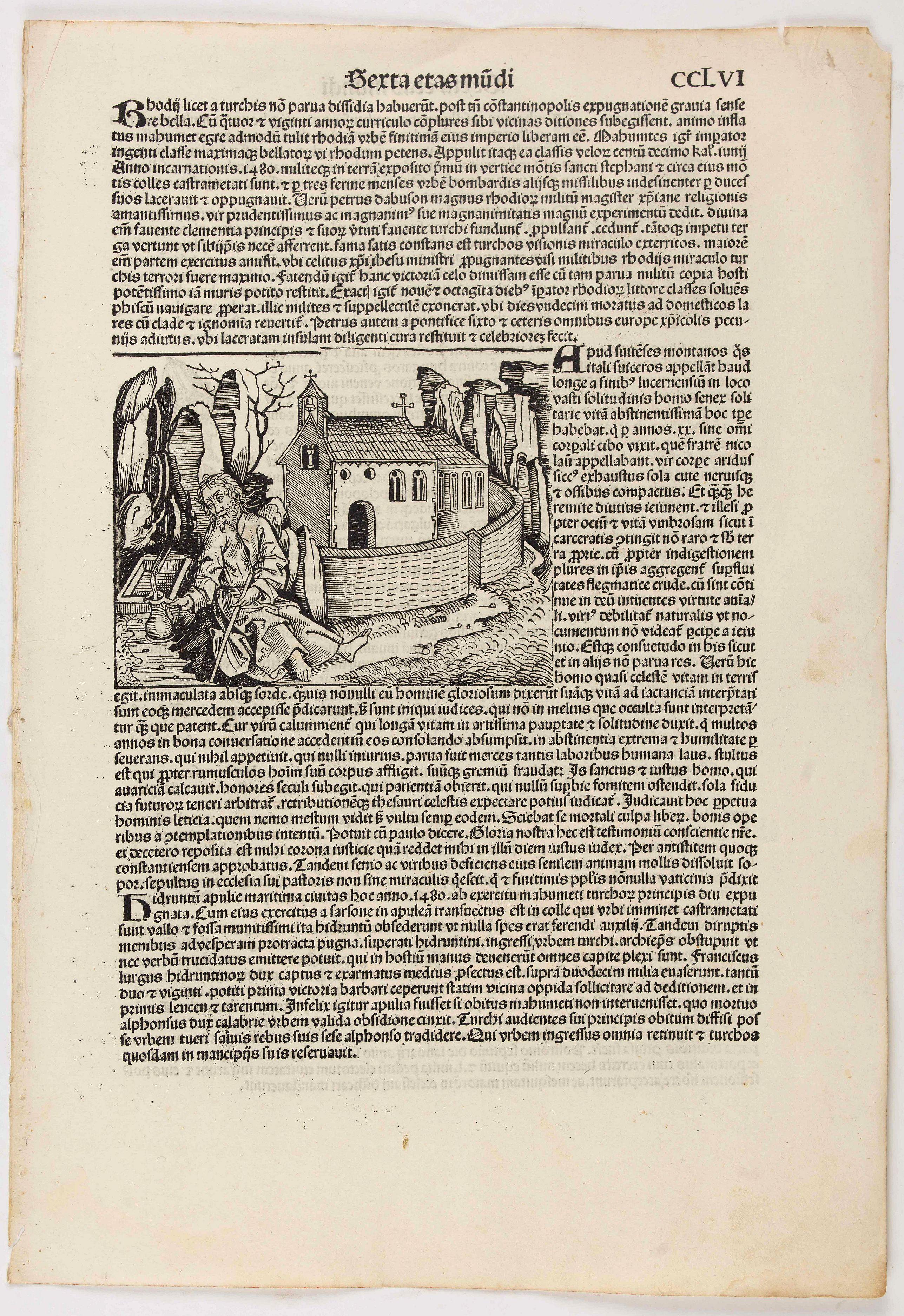 SCHEDEL, H. -  [Text page Sexta etas mudi CCLVI].