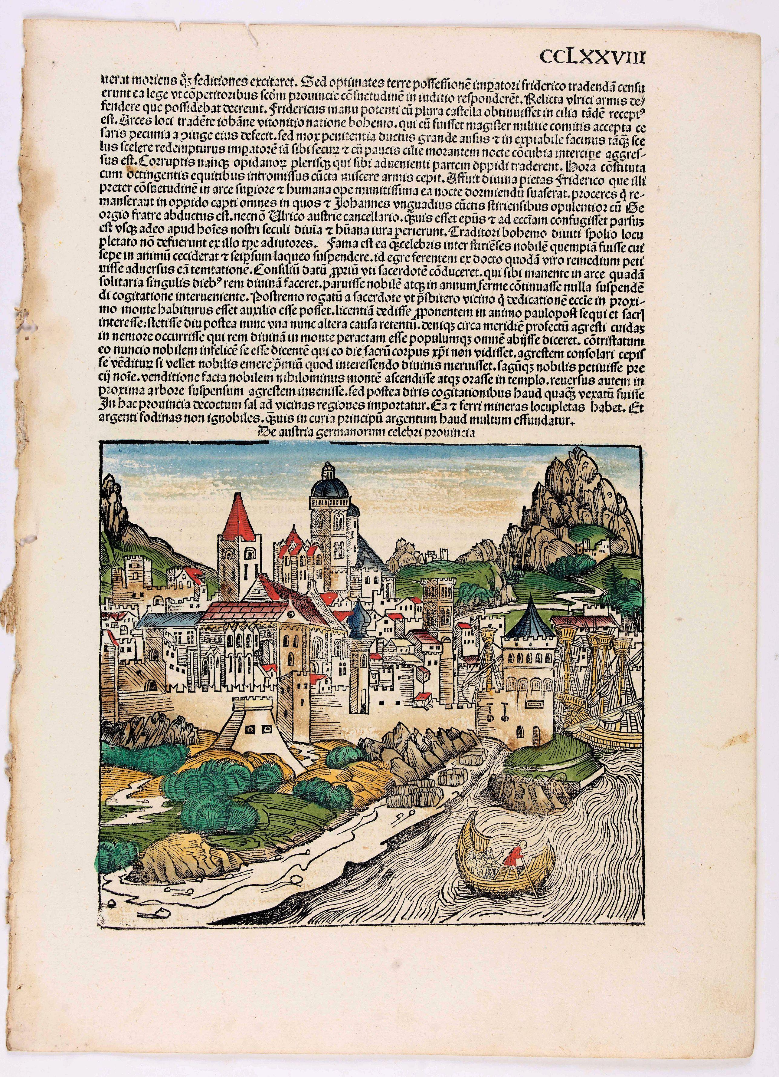 SCHEDEL, H. -  Quita Etas Mundi. Folium. CCLXXVIII