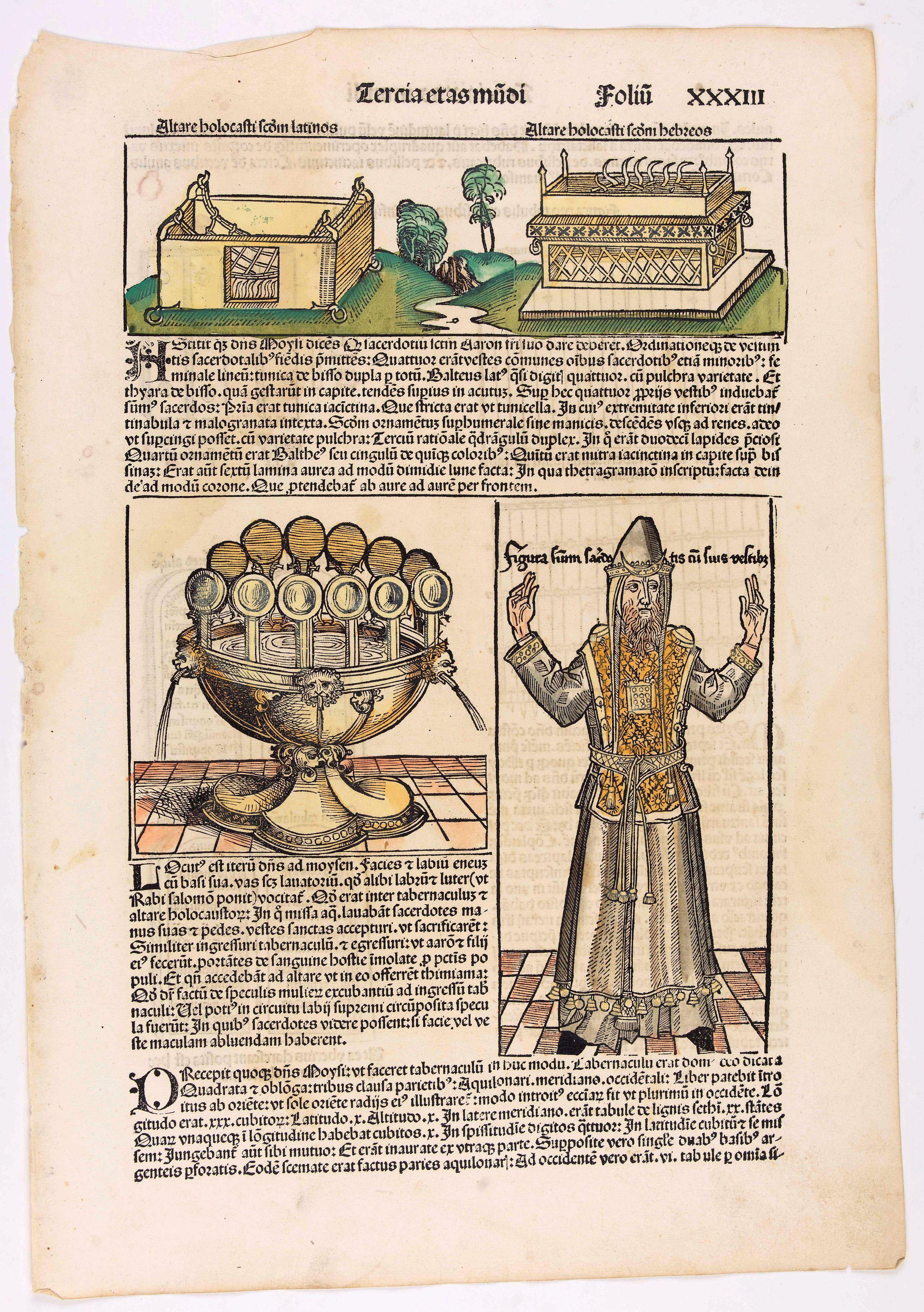 SCHEDEL, H. -  Quita Etas Mundi. Folium. XXXIII