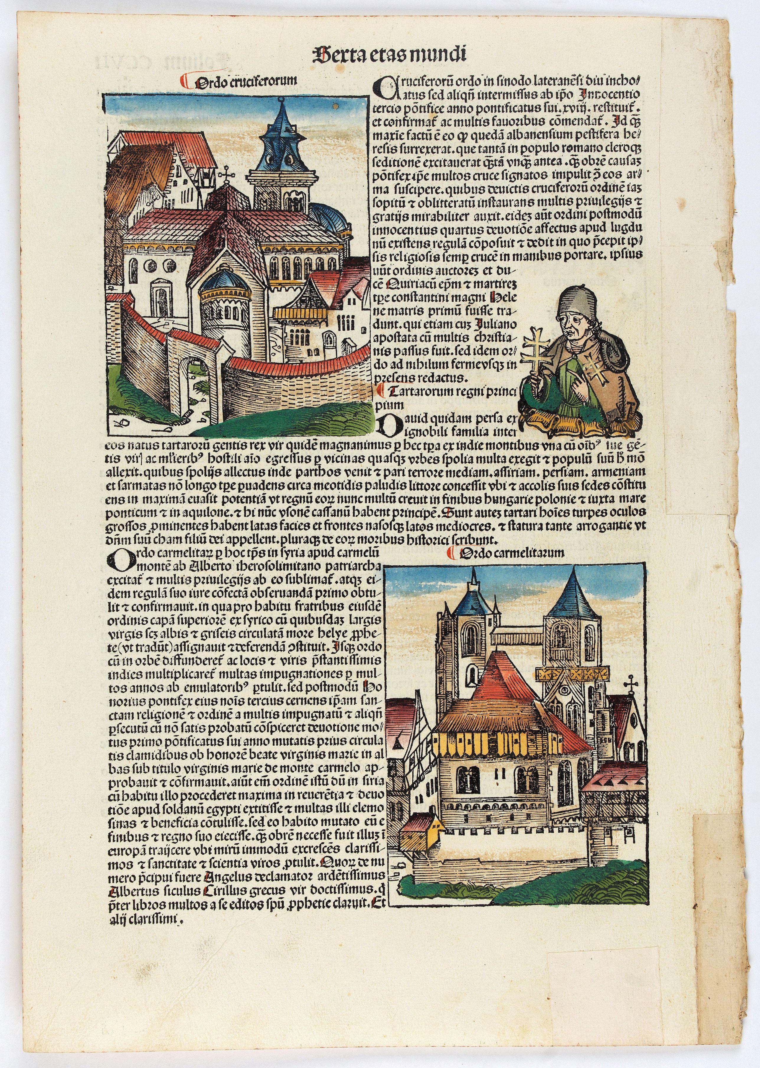 SCHEDEL, H. -  Quita Etas Mundi. Folium. CCVII