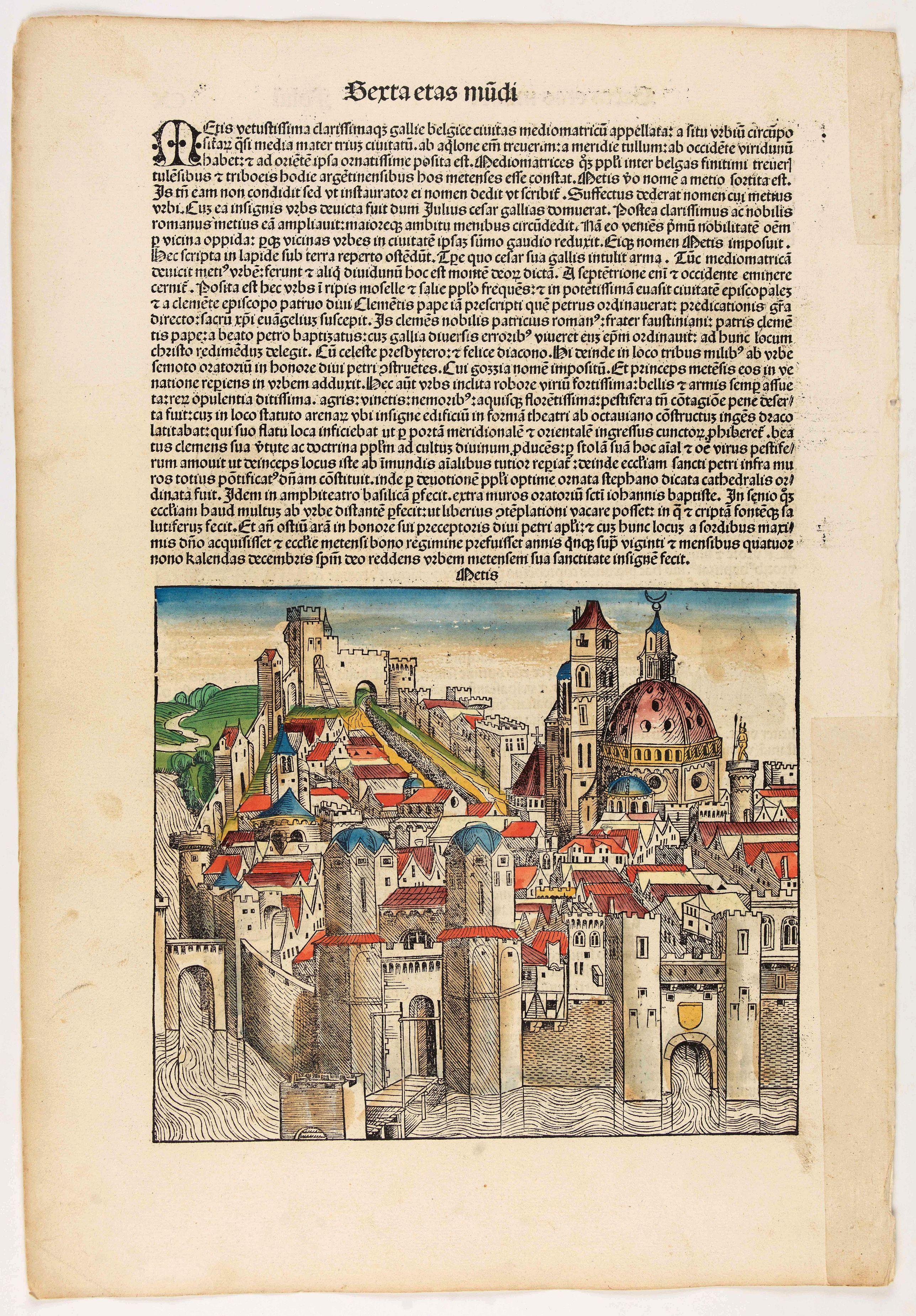 SCHEDEL, H. -  Terta Etas Mundi. Foliu CX