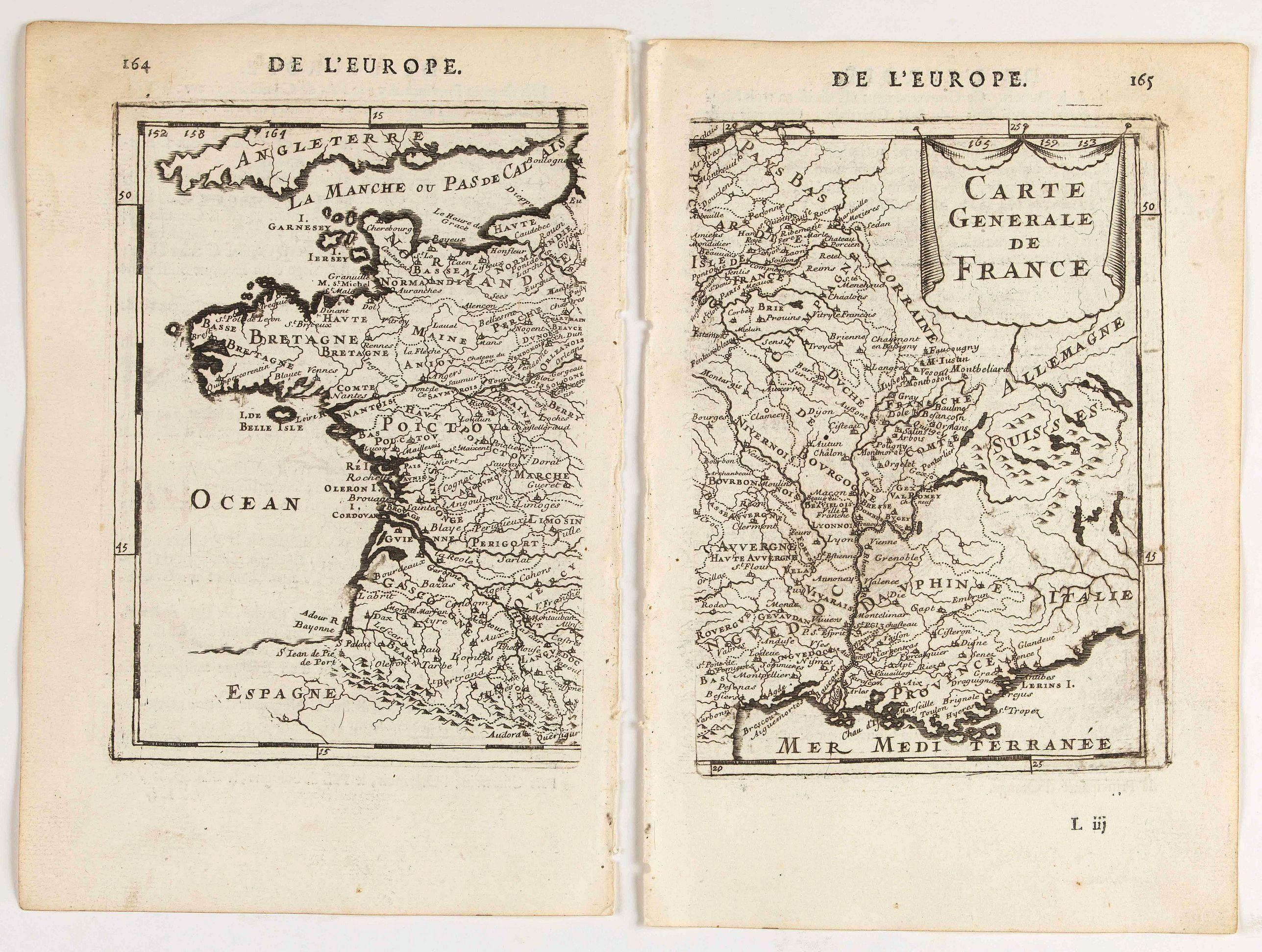 MANESSON MALLET, A. -  Carte generale de France.