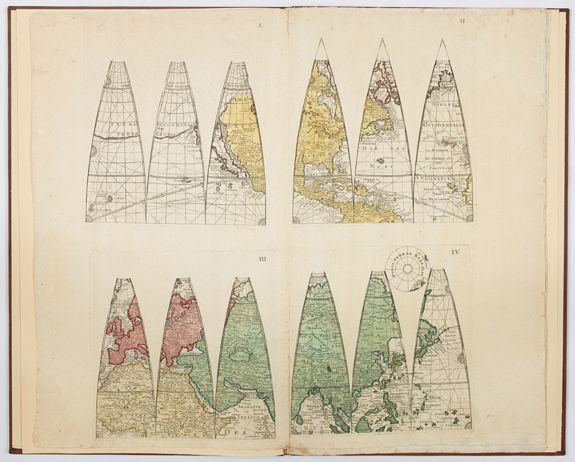 EIMMART, Georg Christoph. -  Atlas. [Complete set of Terrestrial and Celestial Gores]