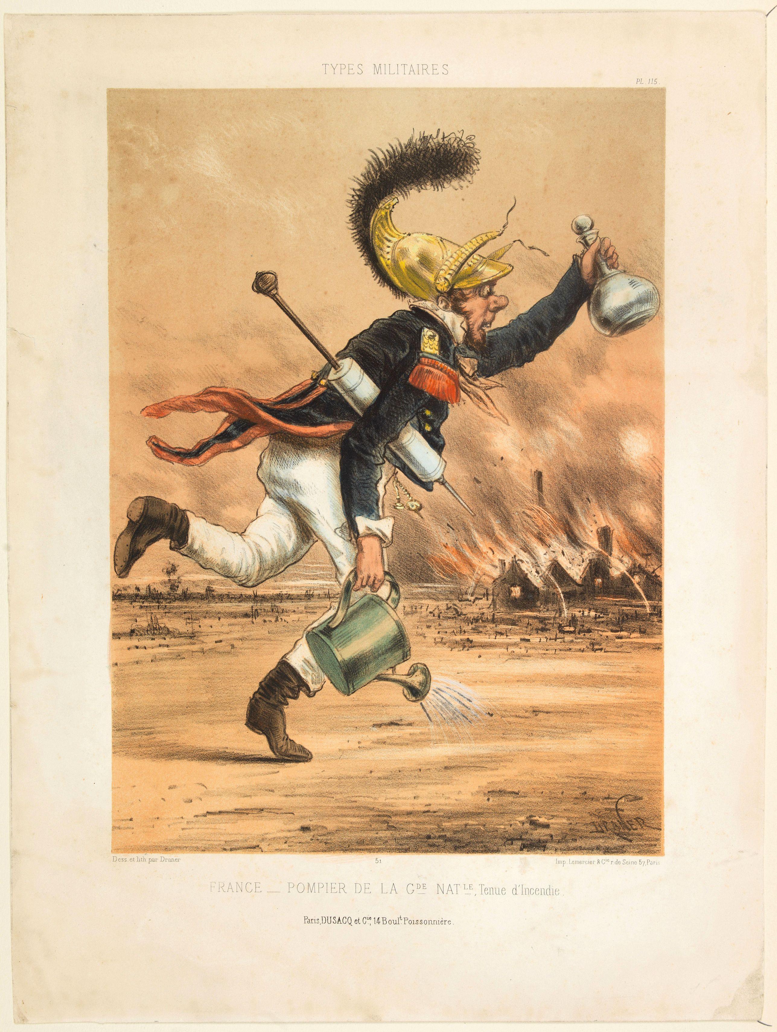 DRANER [pseudonyme Jules Renard], -  France - Pompier de la Garde Nationale, Tenue d'Incendie.