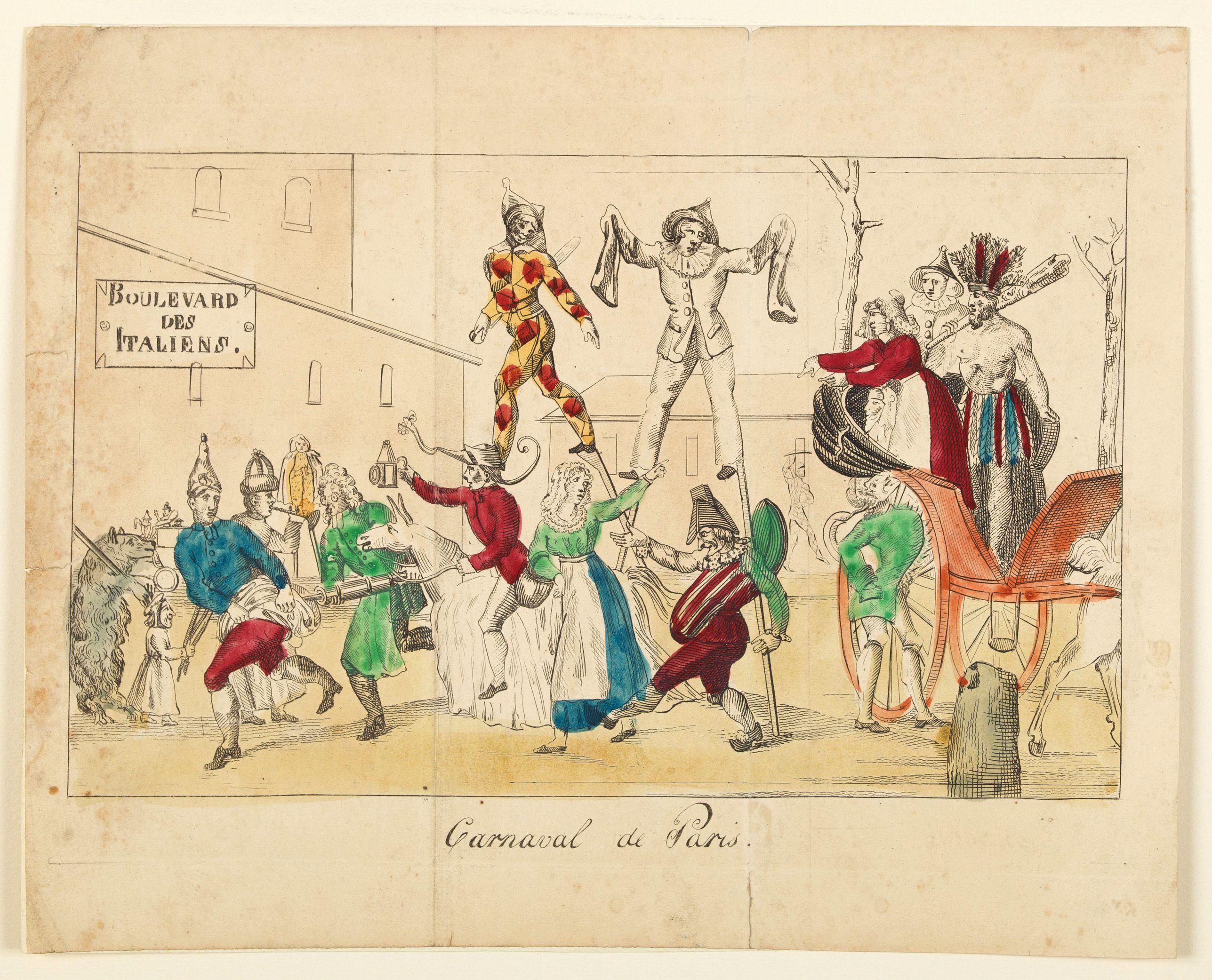 ANONYMOUS. -  Carnival de Paris.
