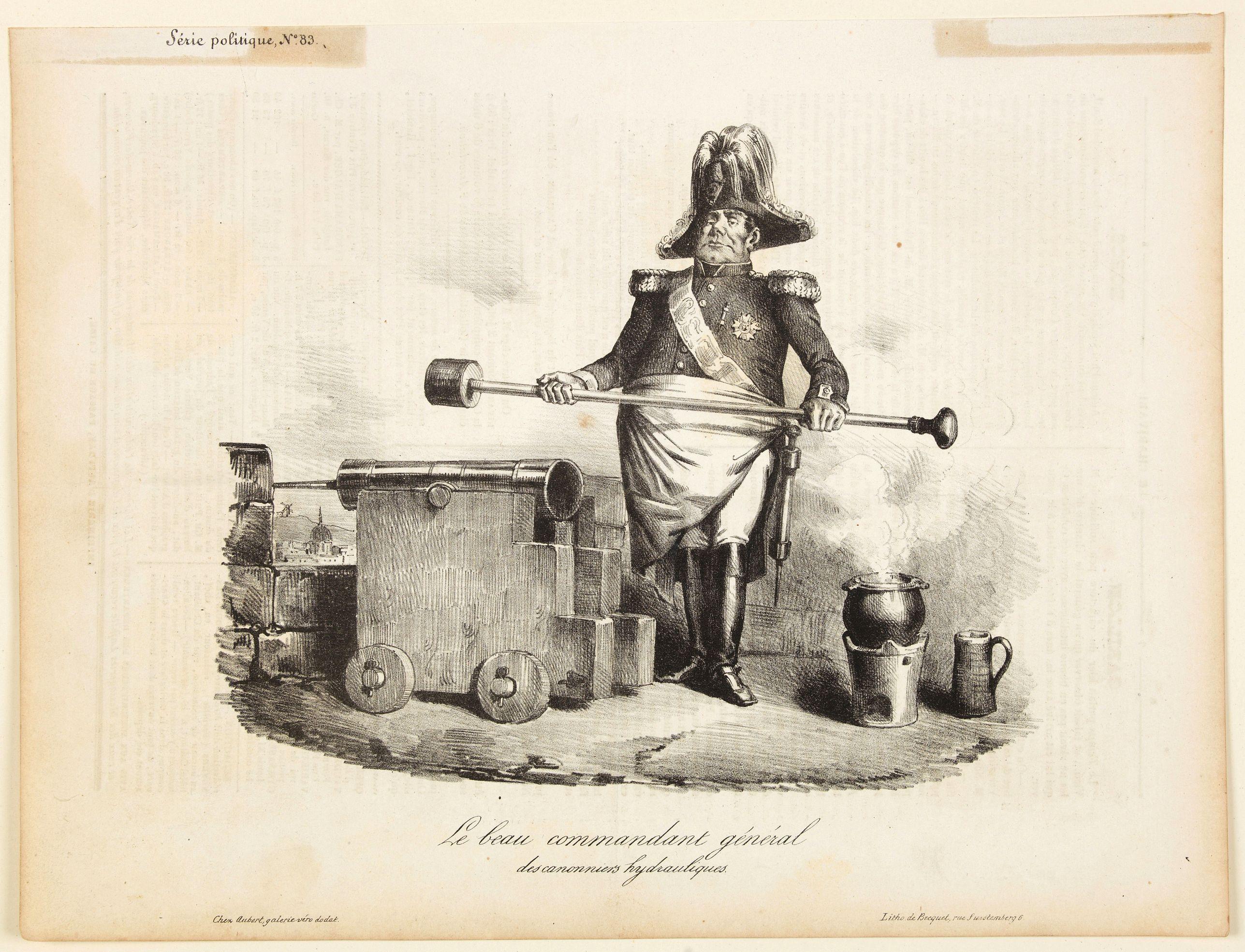 BECQUET. -  Le beau commandant general des cannonniers hydrauliques.