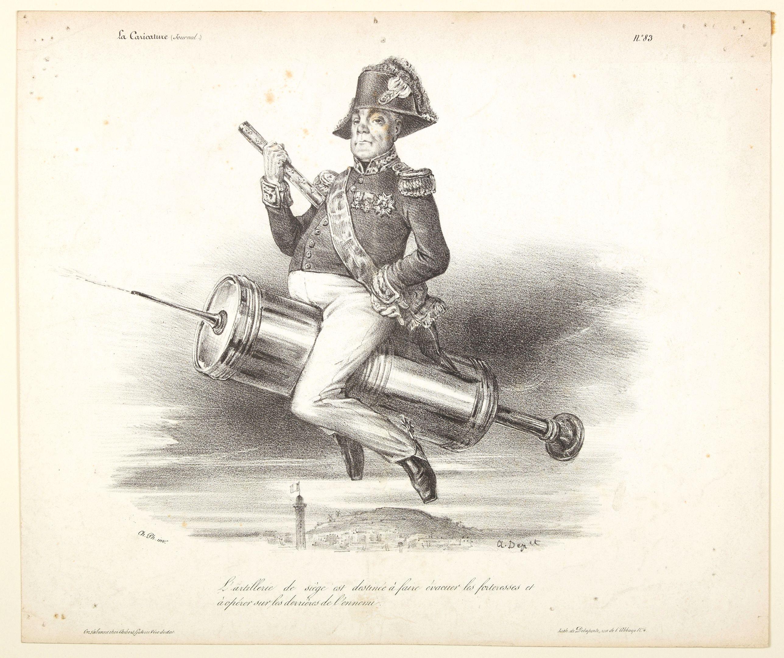DEPERRET, A. -  L'Artilleur de siege est destinee a faire evacuer les fortresses et a operer sur les derrieres de l'ennemi.