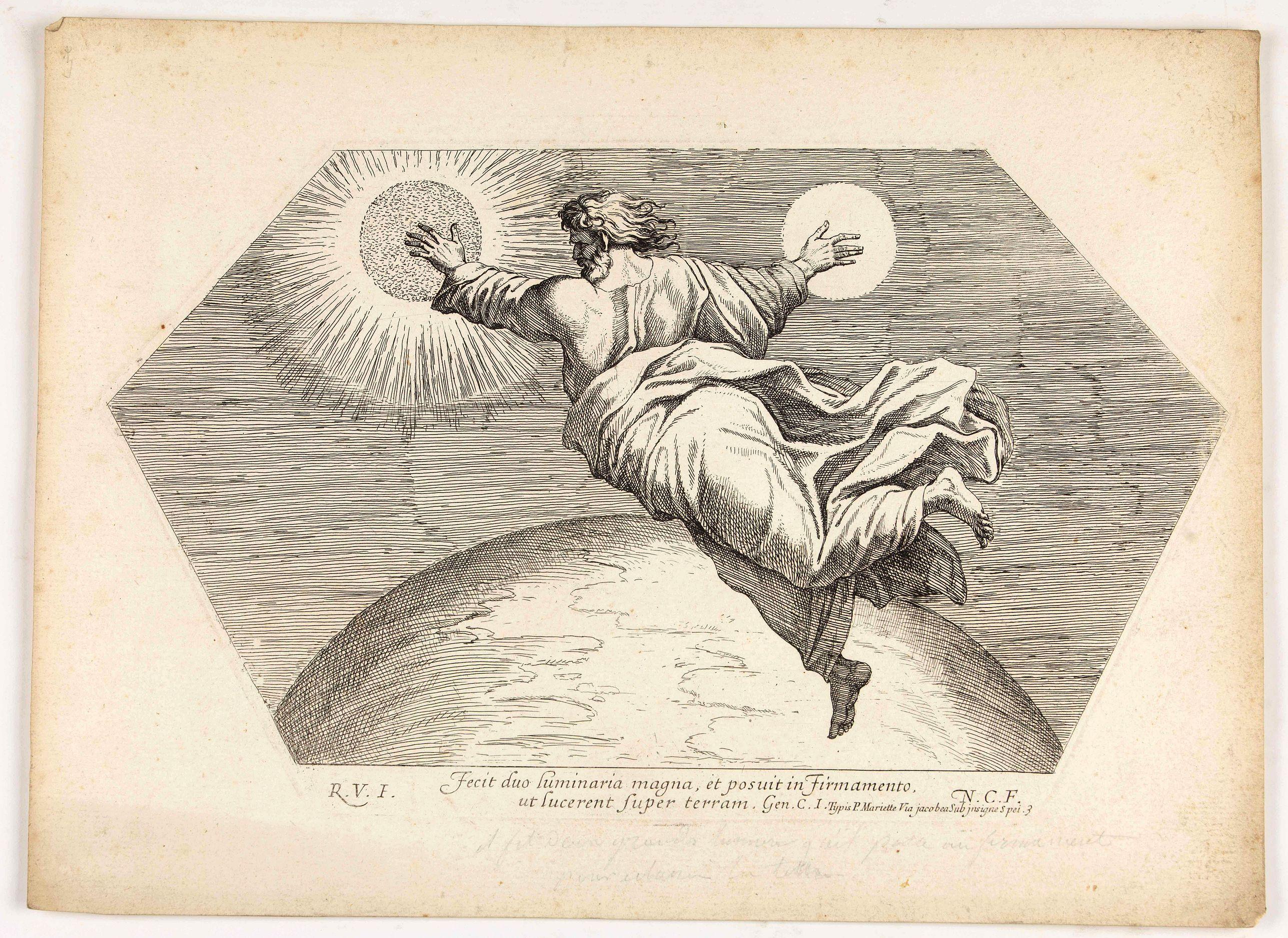 CHAPRON, N. -  Fecit duo luminaria magna, et posuit in firmamento, ut lucerent super terram. . . . (Plate 3)