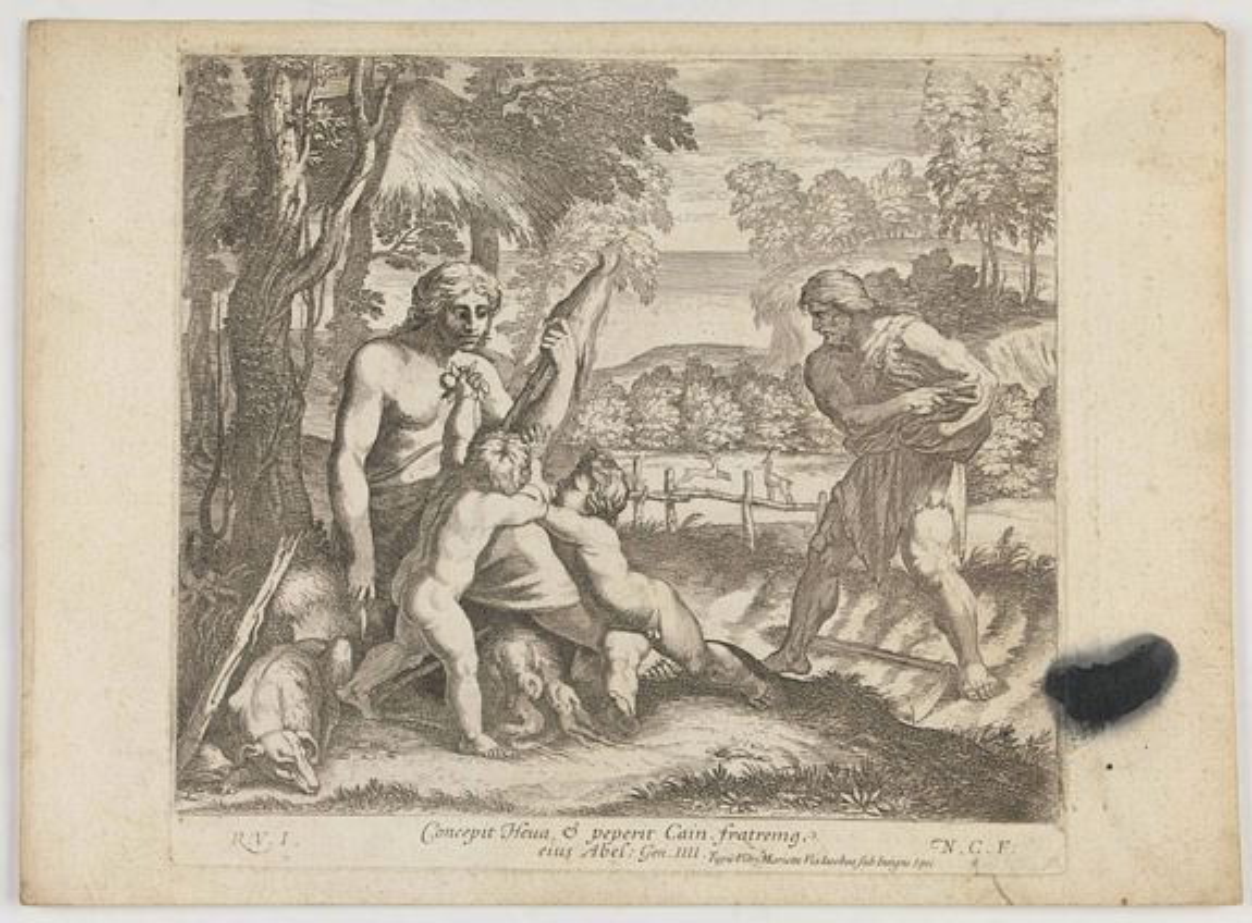 CHAPRON, N. -  Concepit Heua & peperit Cain fratremg eius Abel. . . . (Plate 8)