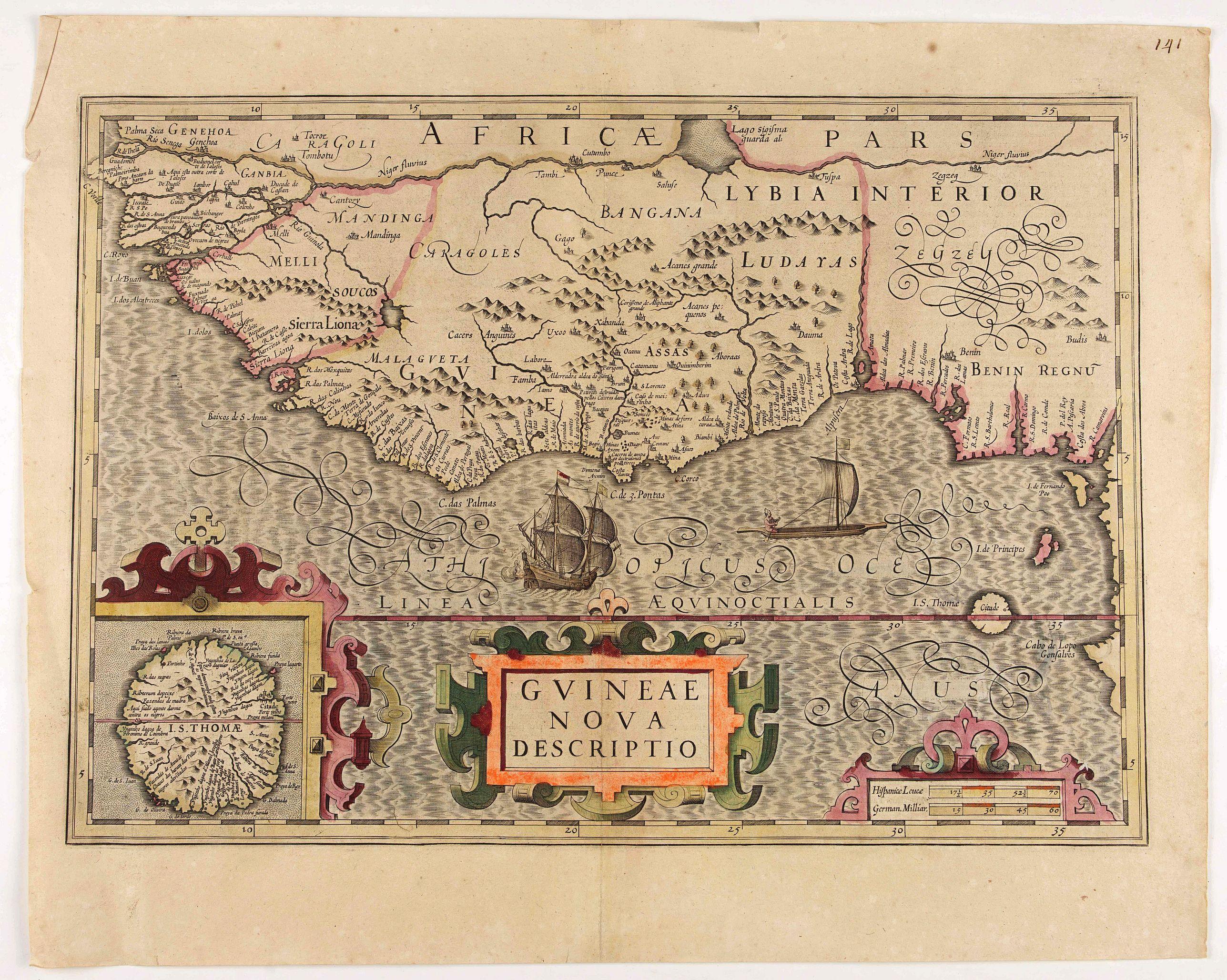 MERCATOR, G./ HONDIUS, J. -  Guineae Nova Descriptio.