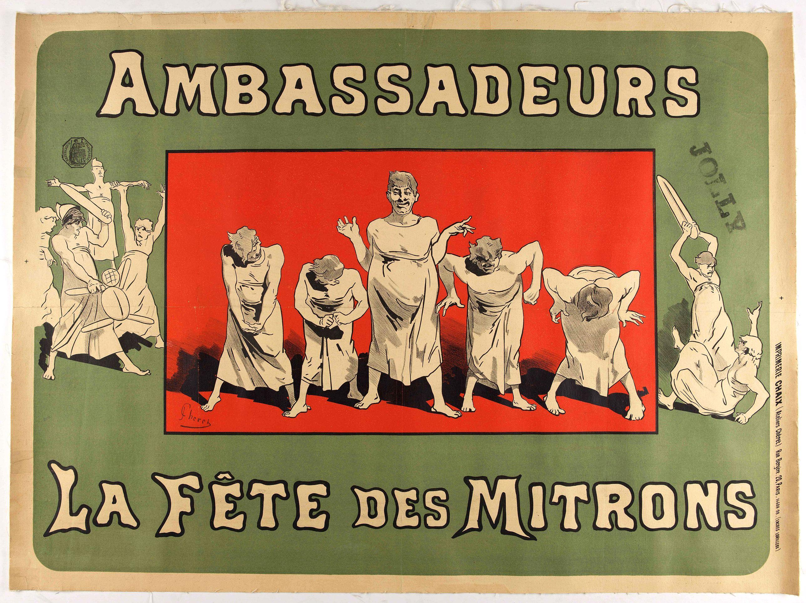 CHÉRET, Jules. -  Ambassadeurs – La fête des Mitrons.