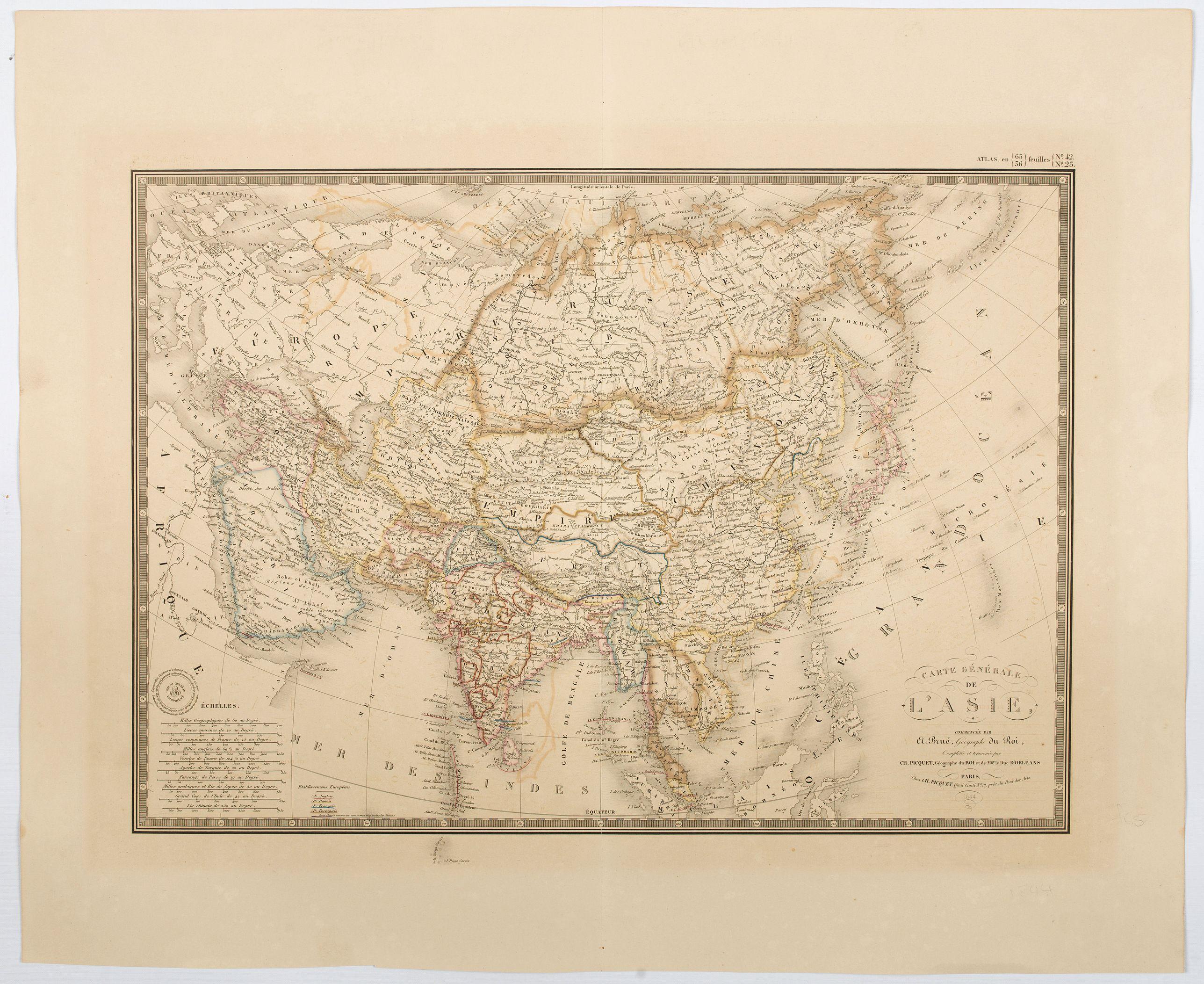 BRUE, A.H. - Carte Generale de L'Asie.