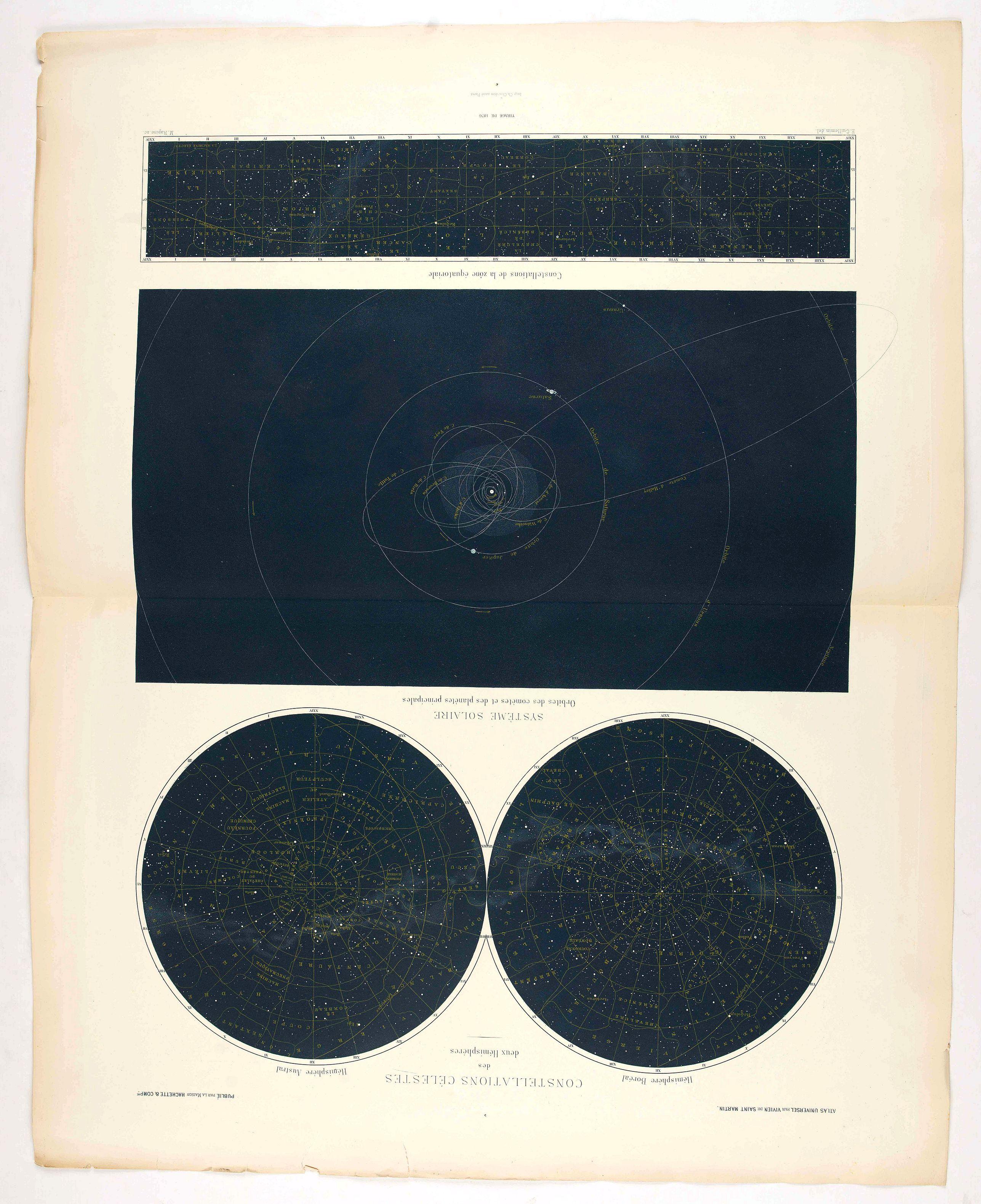 VIVIEN de SAINT MARTIN. -  Constellations célestes des deux Hémisphères.