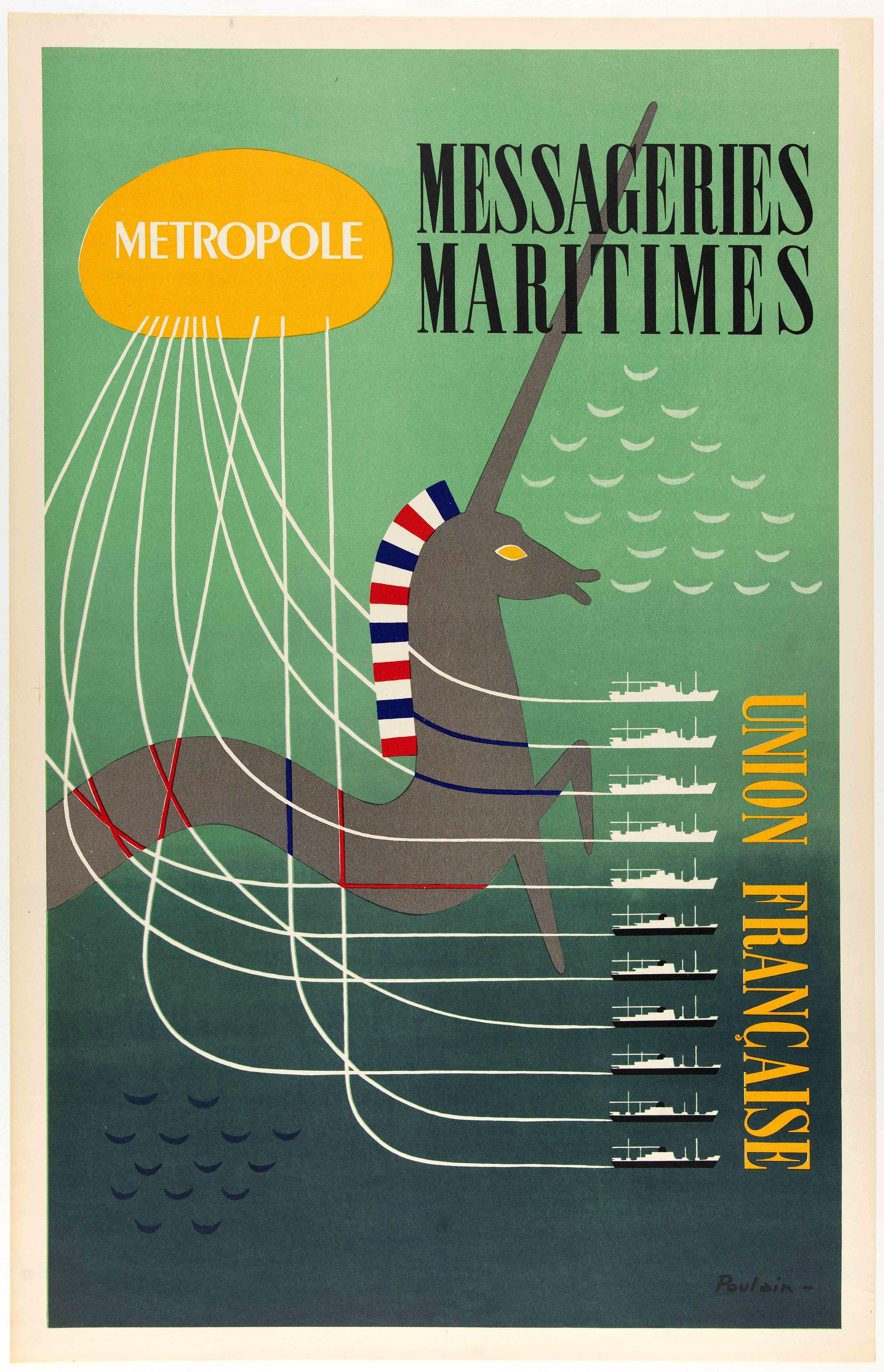 IMP FRANCAISES REUNIES -  Metropole, Messageries Maritimes Union Française.