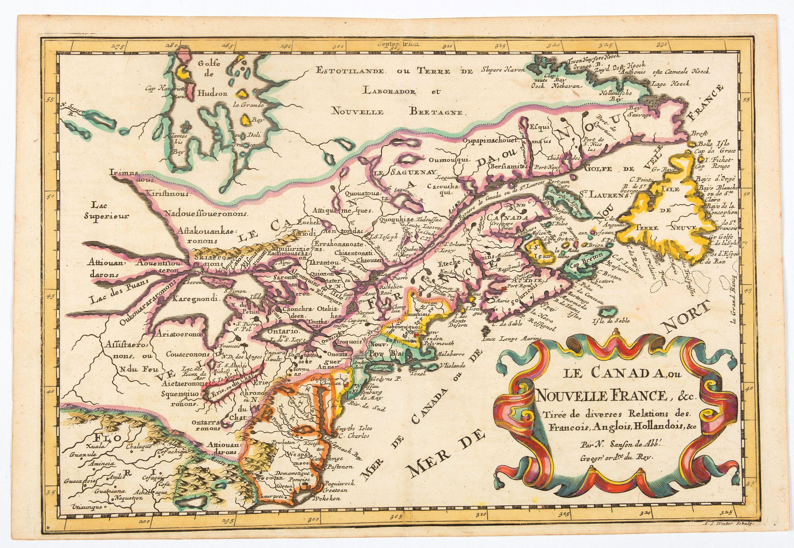 LUYTS, Johannis. -  Le Canada, ou Nouvelle France, &c, tiree de diverses Relations des Francois, Anglois, Hollandois, &c. . .