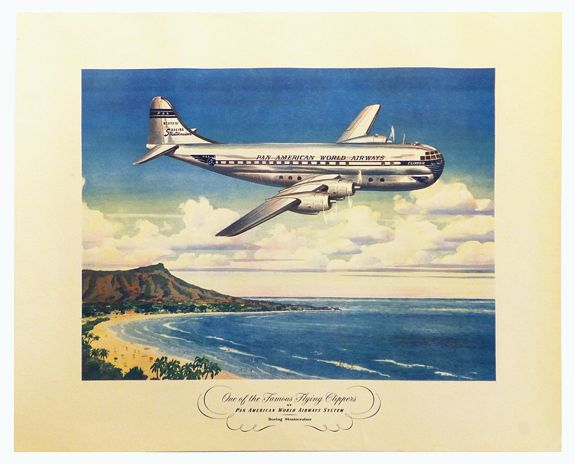 PAN AM -  One of the most famous clippers of the Pan America World Airways system. Boeing Startocruiser.