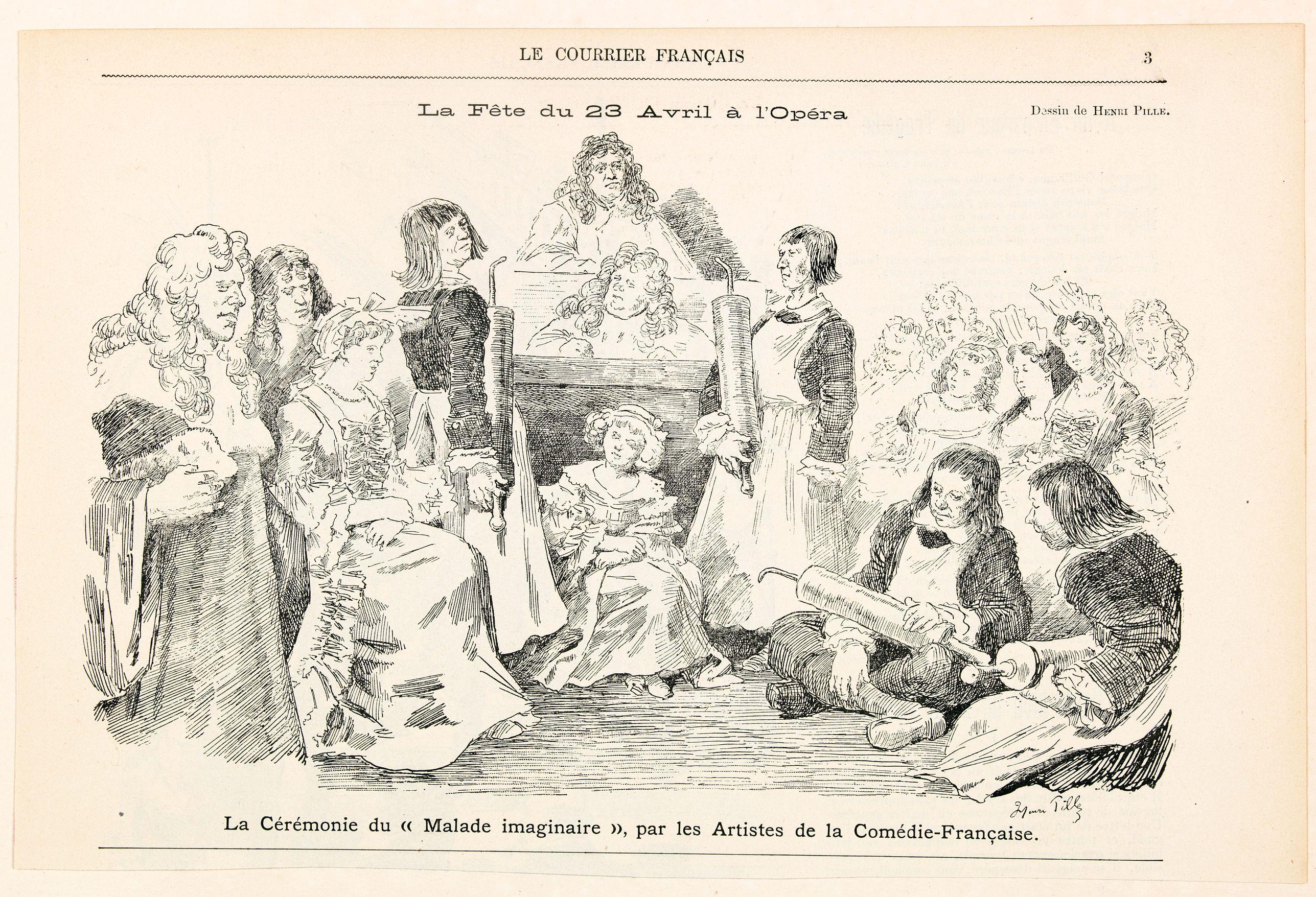 ROCQUES, Jules. -  La Fete du 23 Avril a l'Opera.