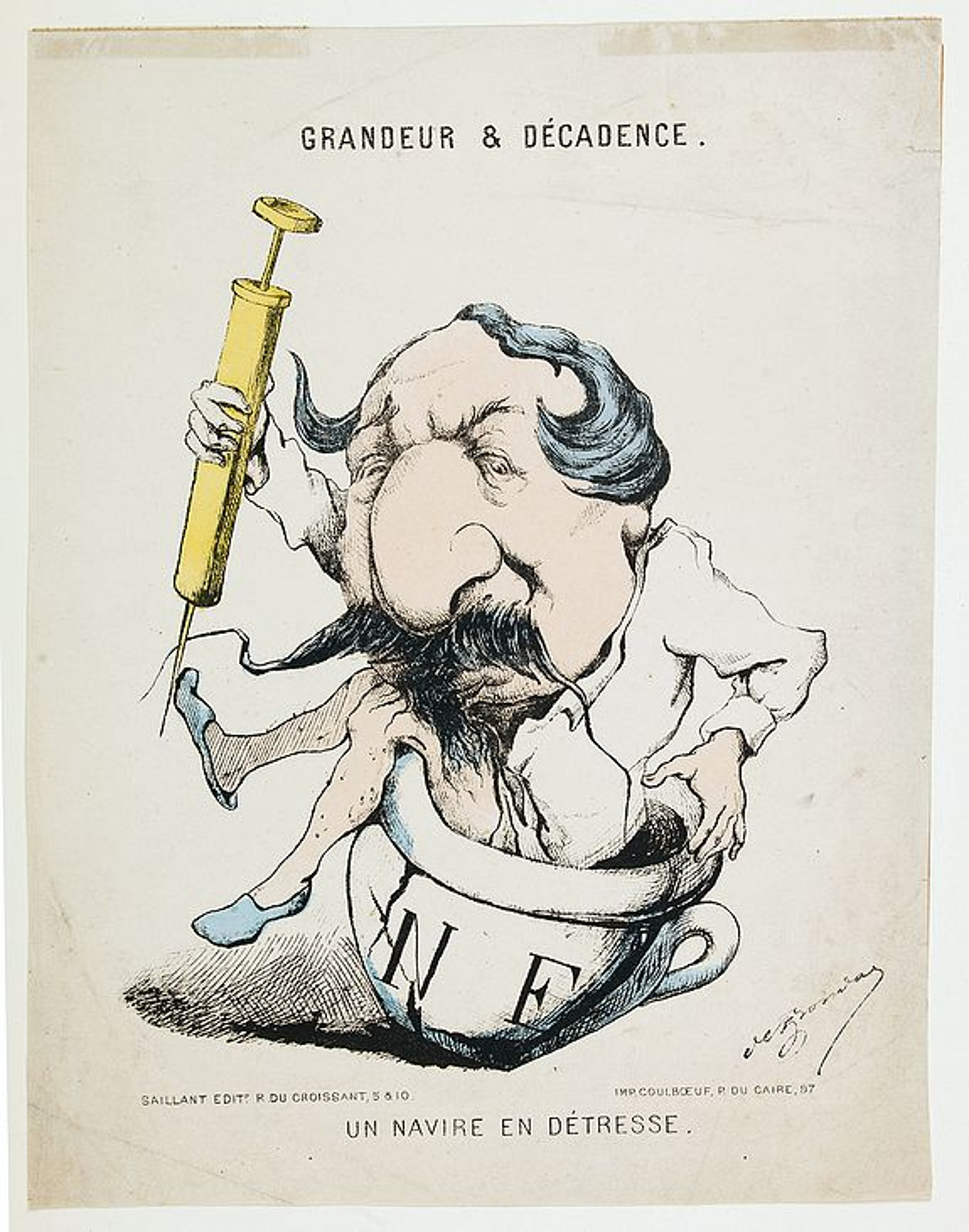 FRONDAT, Charles de. -  Grandeur et Decadence. Un Navire en Detresse.