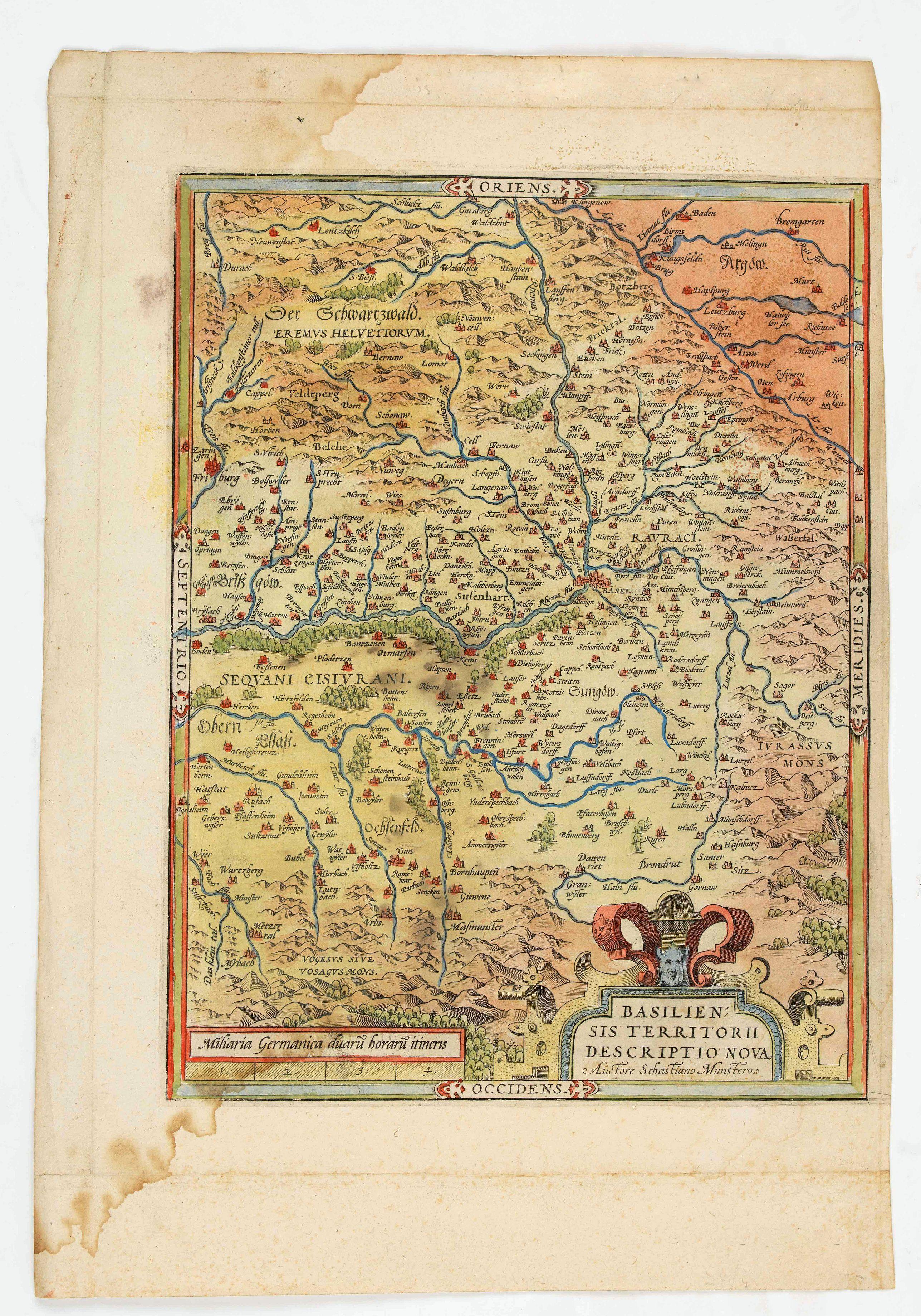 ORTELIUS, A. -  Basiliensis territorii descriptio nova.