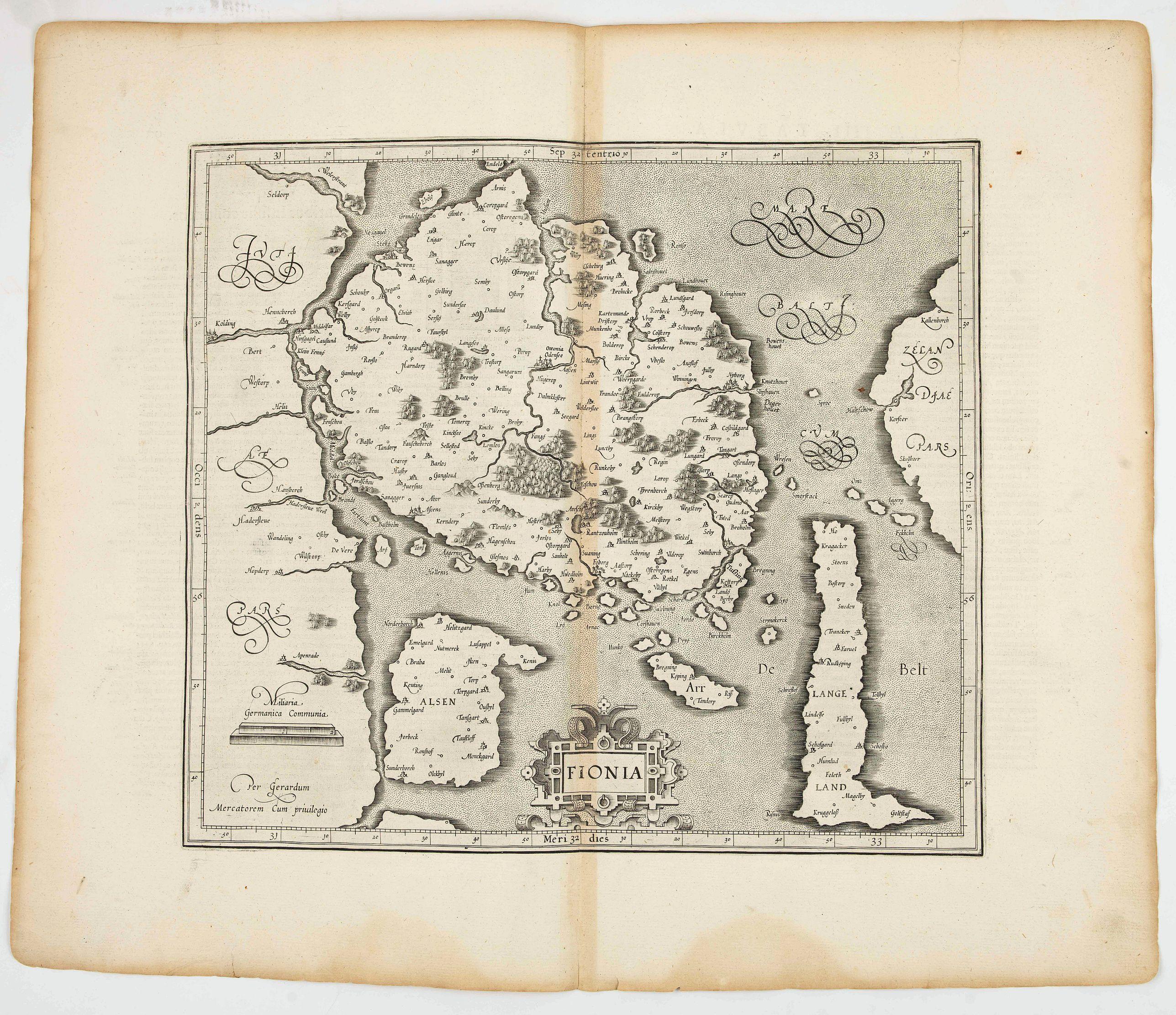MERCATOR, G. / HONDIUS, J. -  Fionia.