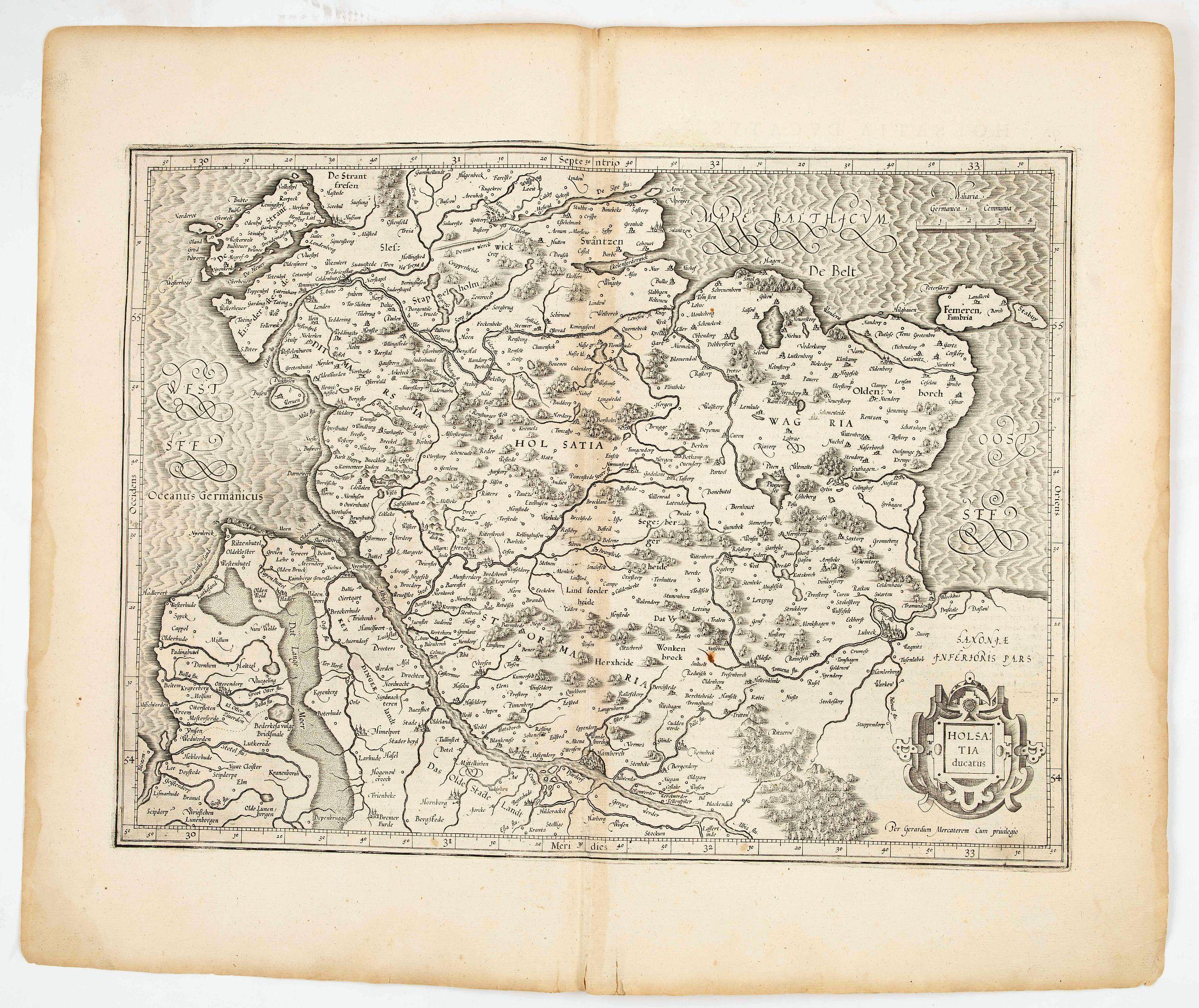 MERCATOR,G./ HONDIUS,J. -  Holsatia ducatus.