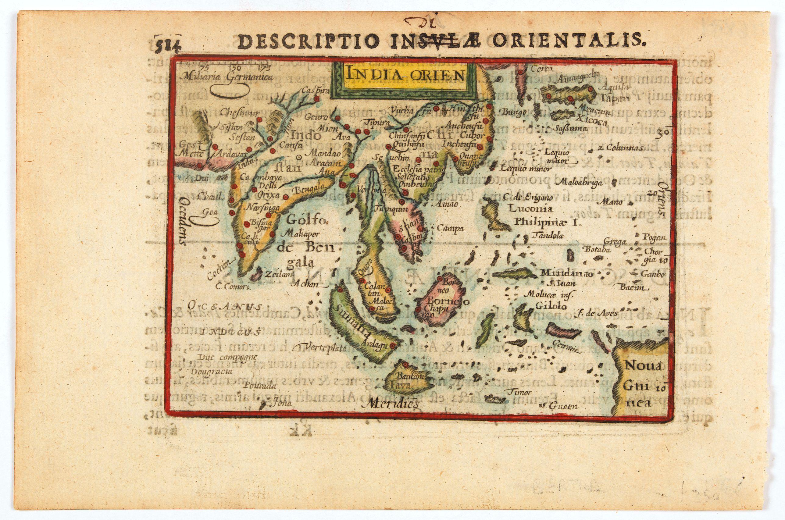 BERTIUS, P. -  India Orientalis.