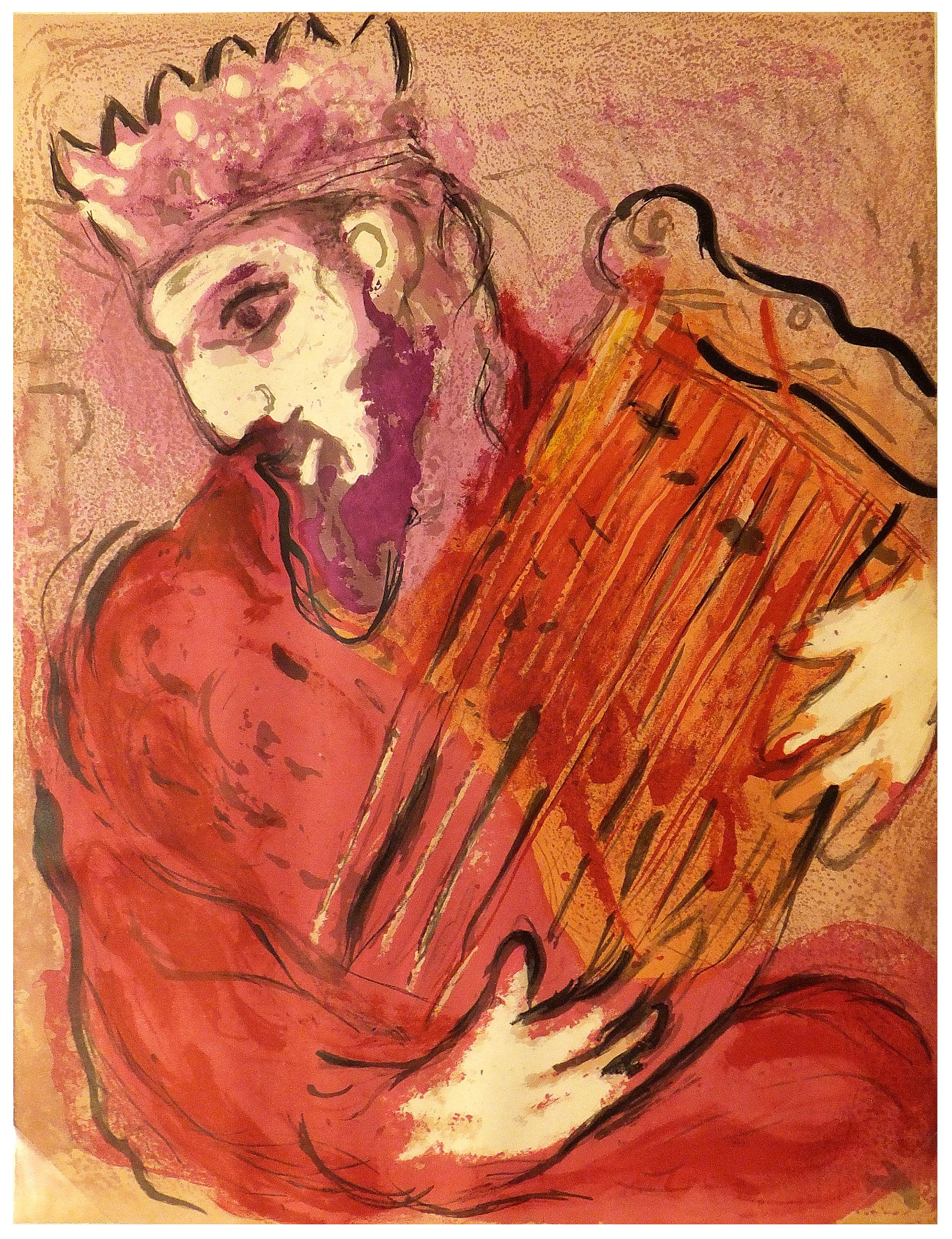 CHAGALL, M. -  David à la Harpe.