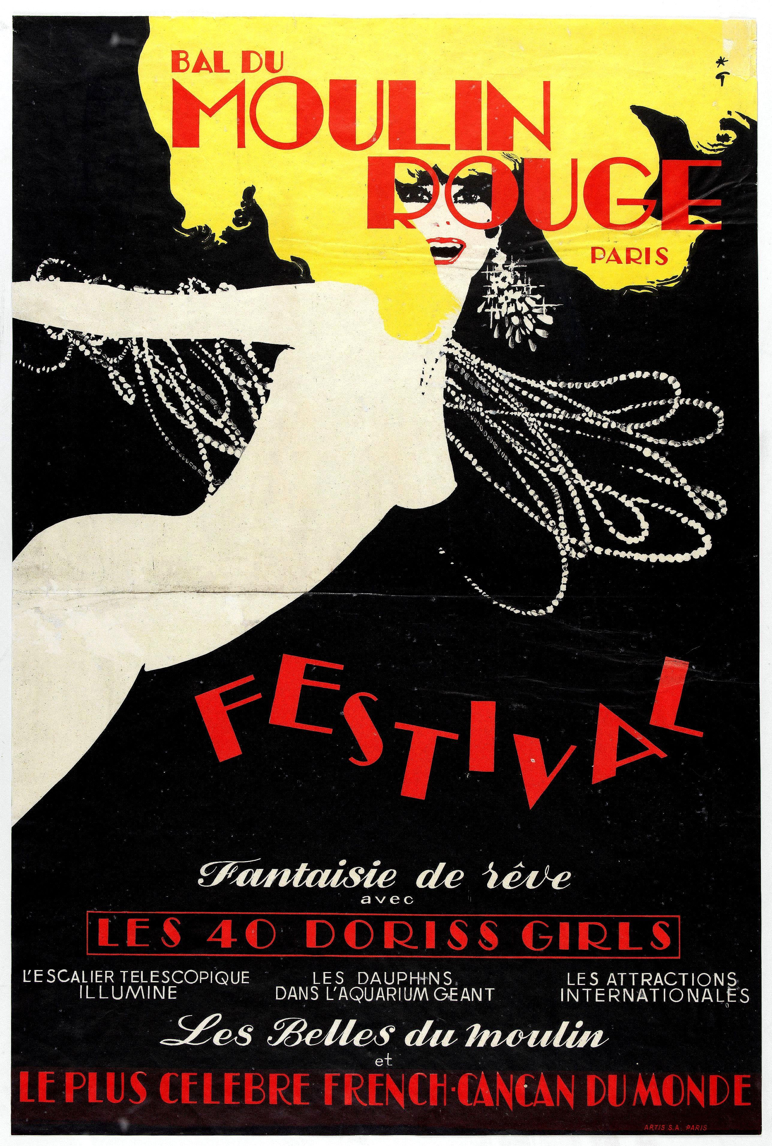 GRUAU, R. -  Bal du Moulin Rouge Paris - Femmes Femmes Femmes.