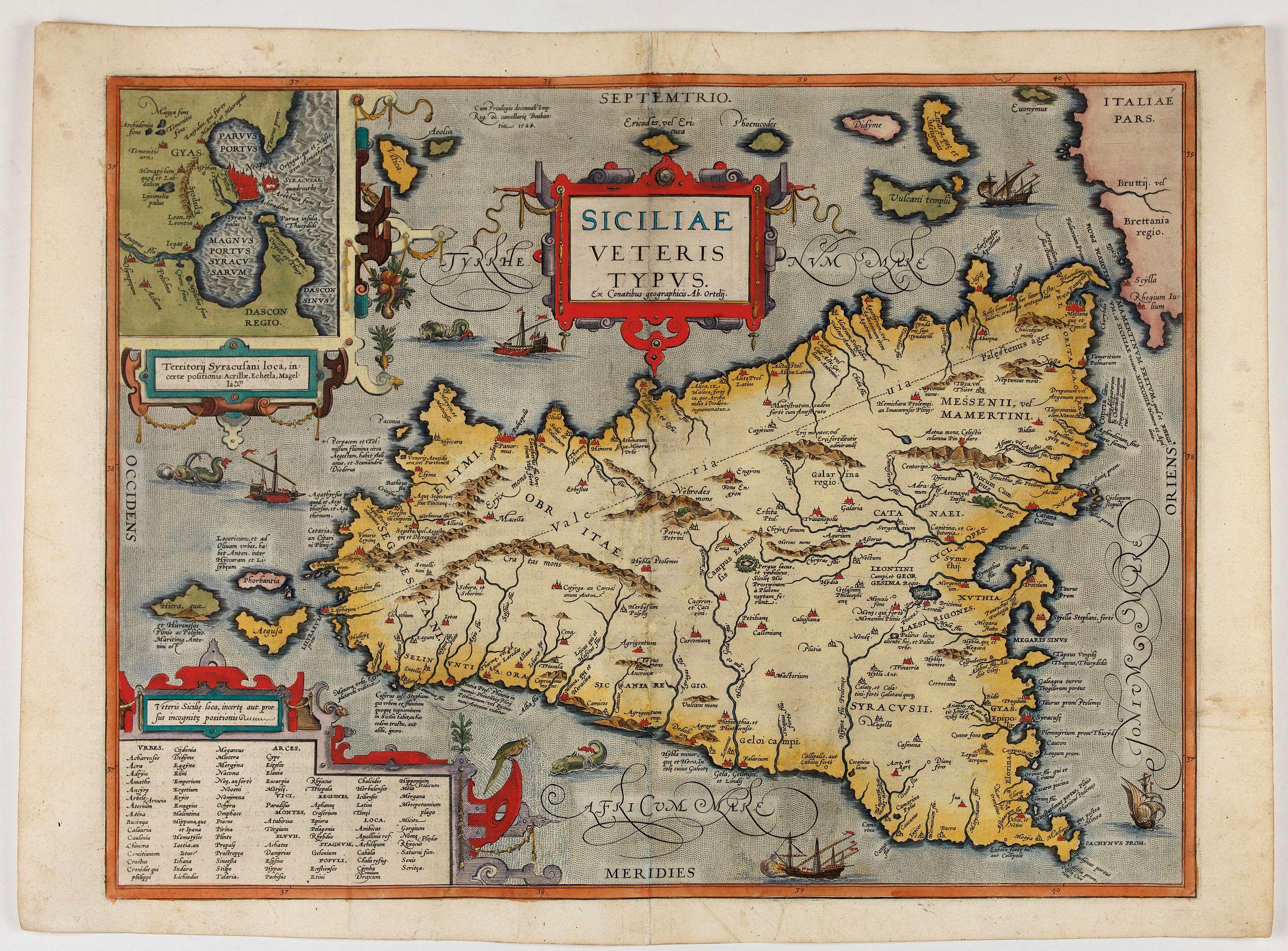 ORTELIUS, A. -  Siciliae Veteris Typus.