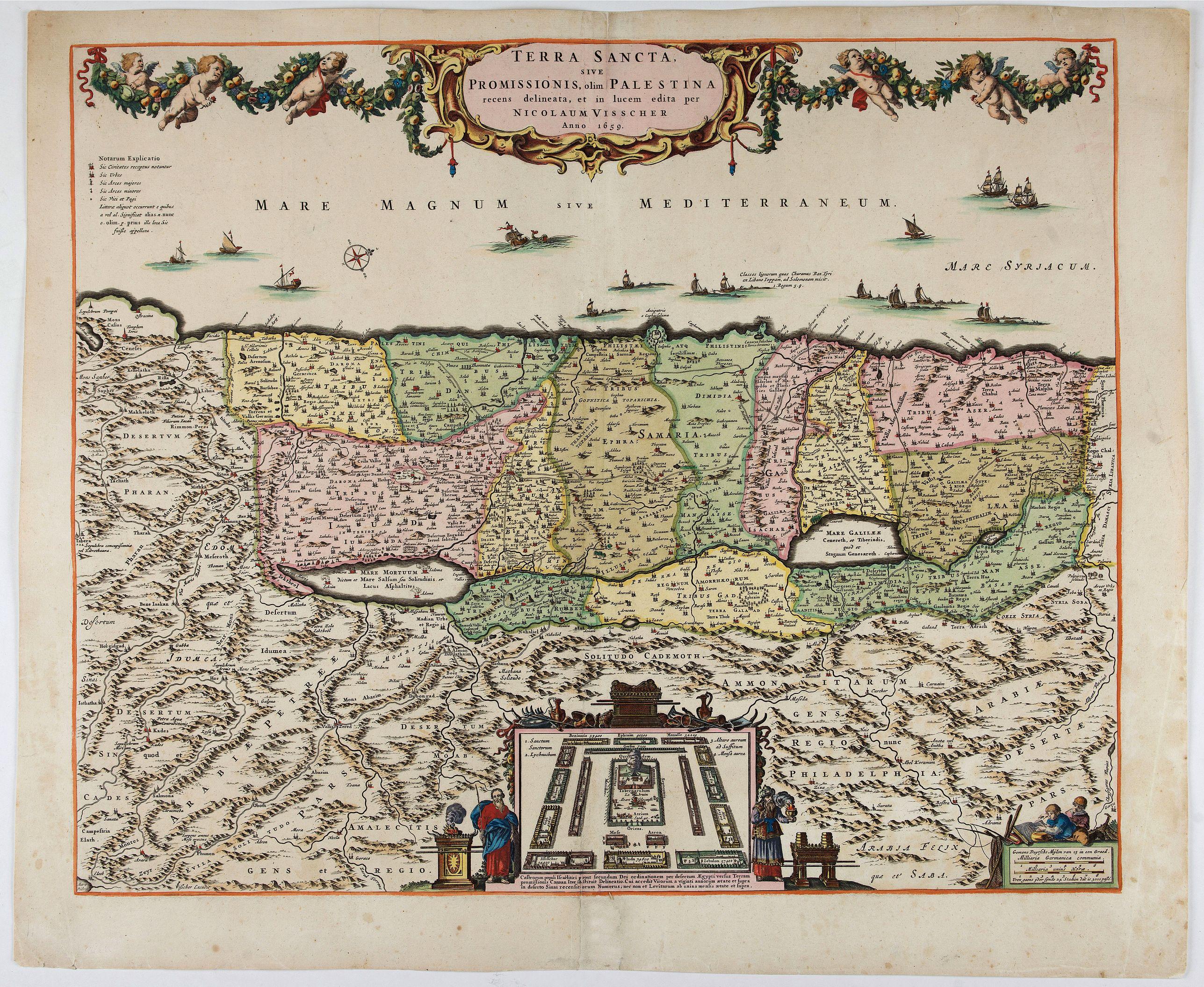 VISSCHER, N. -  Terra Sancta sive Promissionis, olim Palestina..