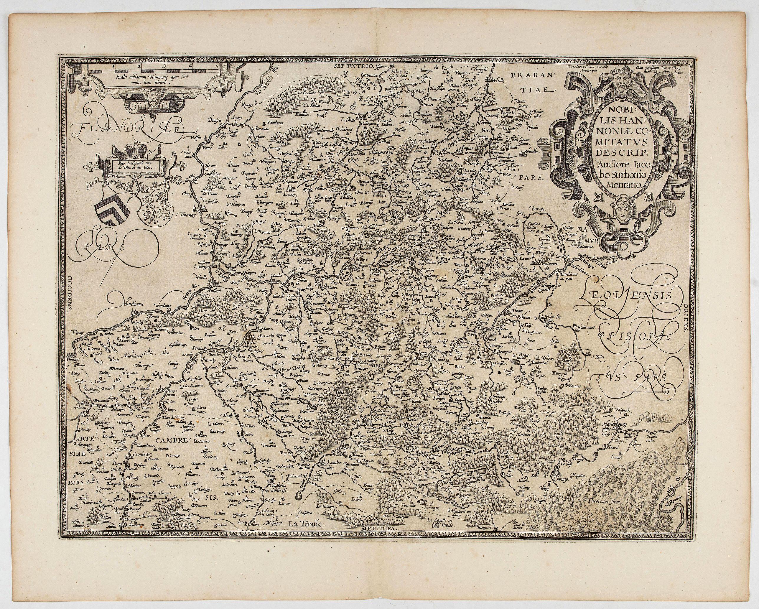 ORTELIUS, A. / GALLE, Th. -  Nobilis Hannoniae Comitatus Descrip.