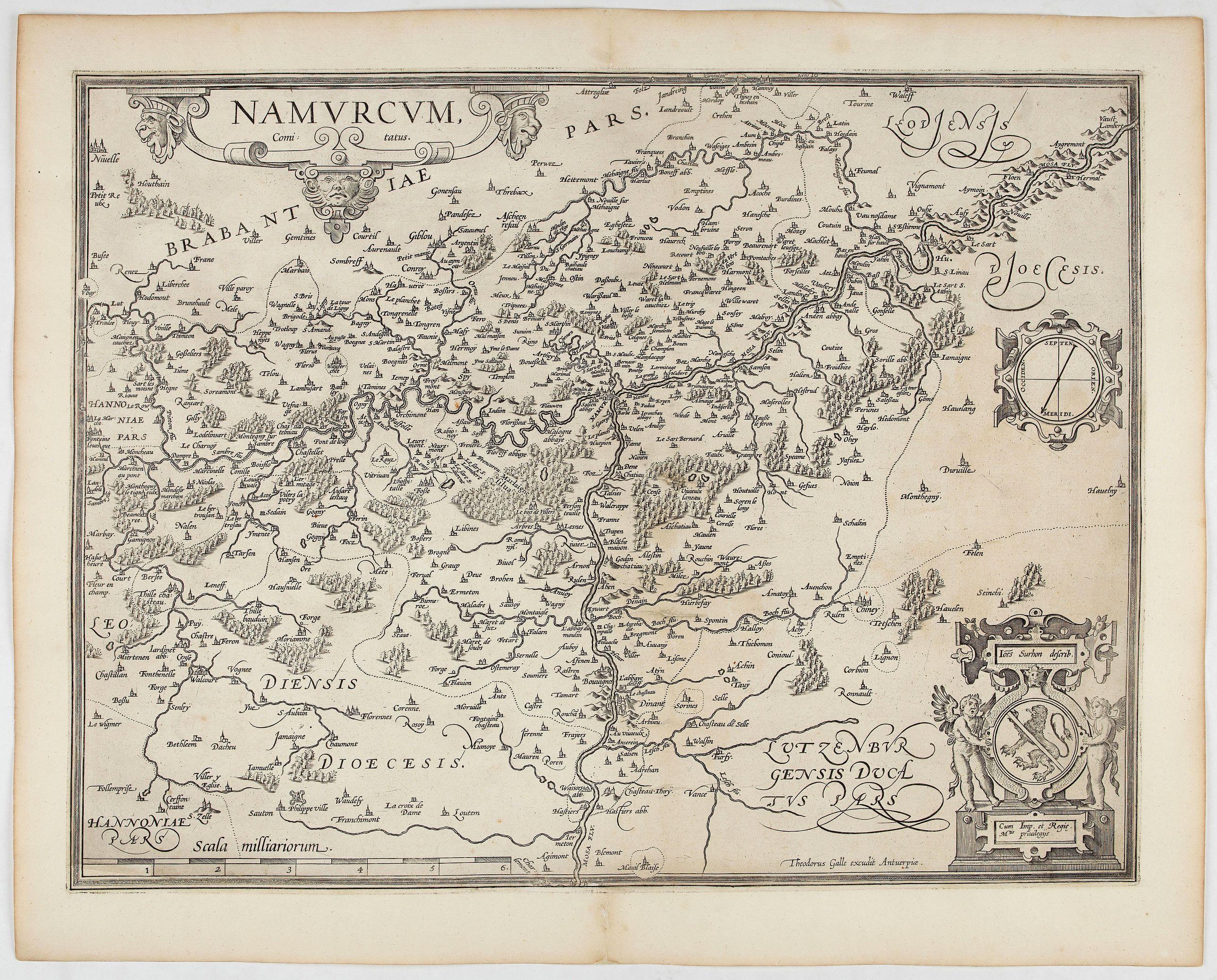 ORTELIUS, A. / GALLE, Th. -  Namurcum Comitatus.