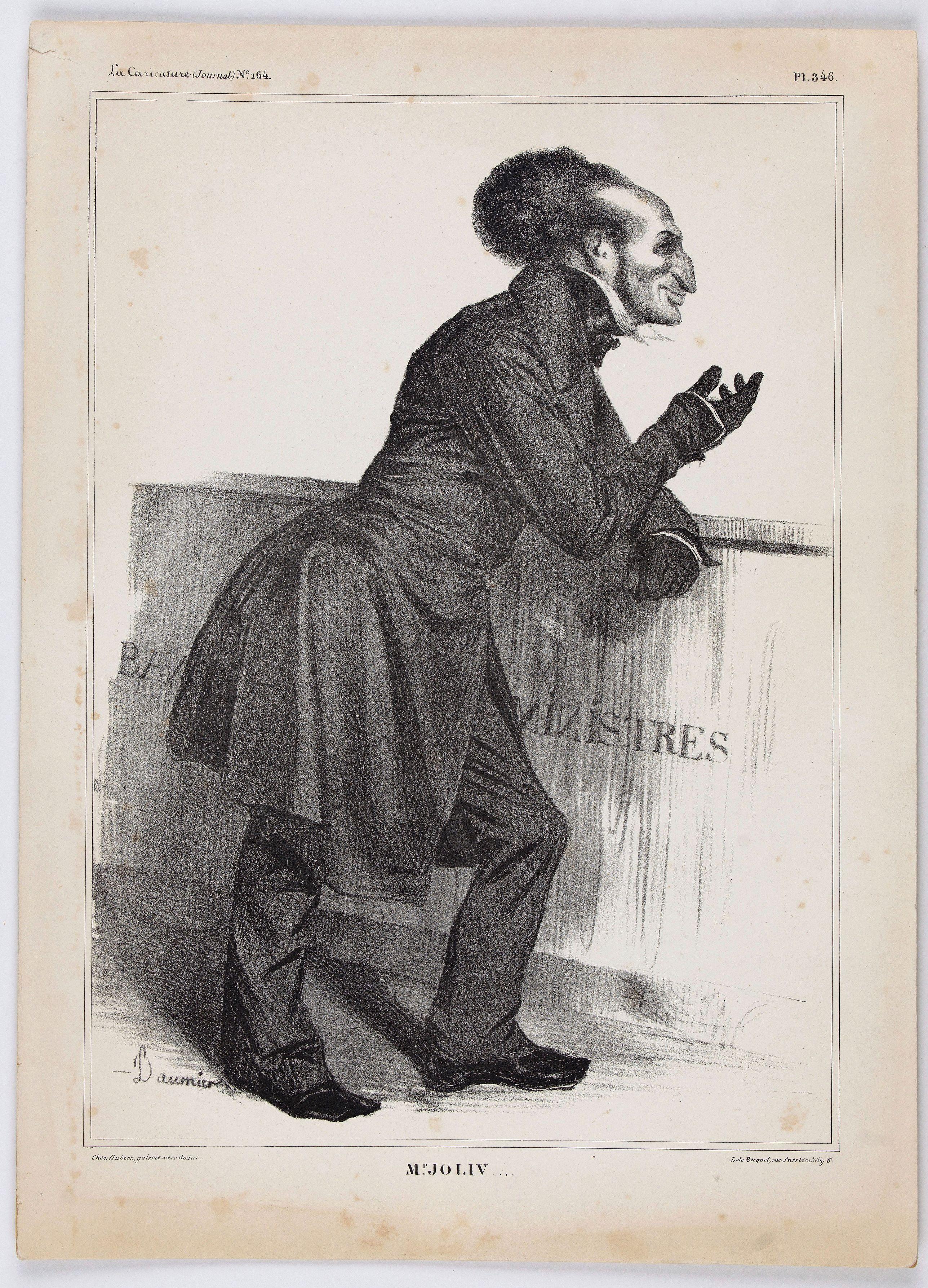 DAUMIER, H. -  Mr. Joliv (Plate 346 in la Caricature).