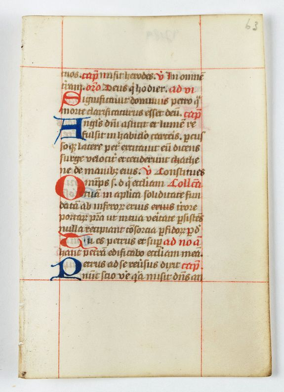BREVIER -  A leaf from a breviary.