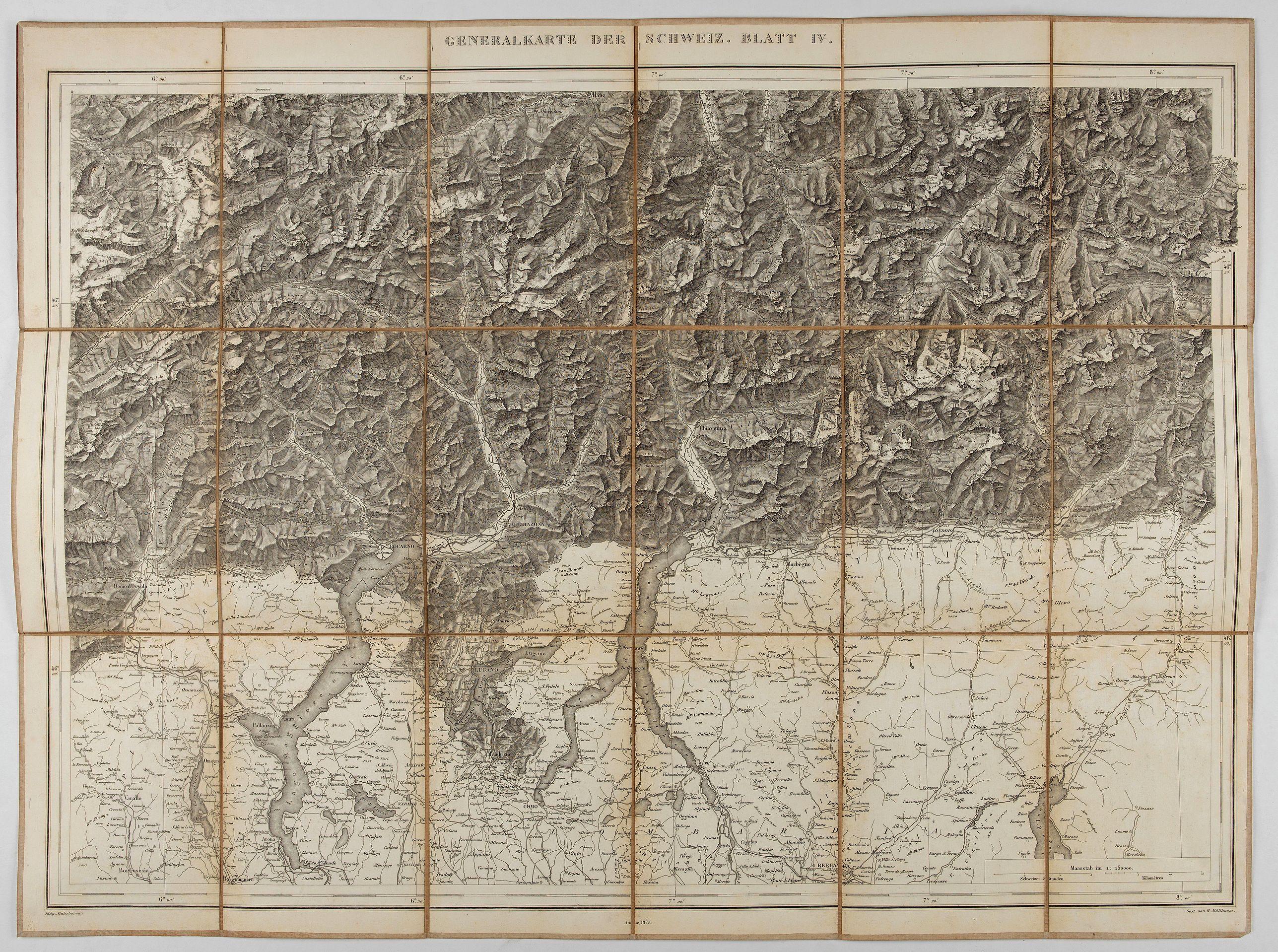 MULLHAUPT, H. -  Generalkarte der Schweiz. Blatt IV.