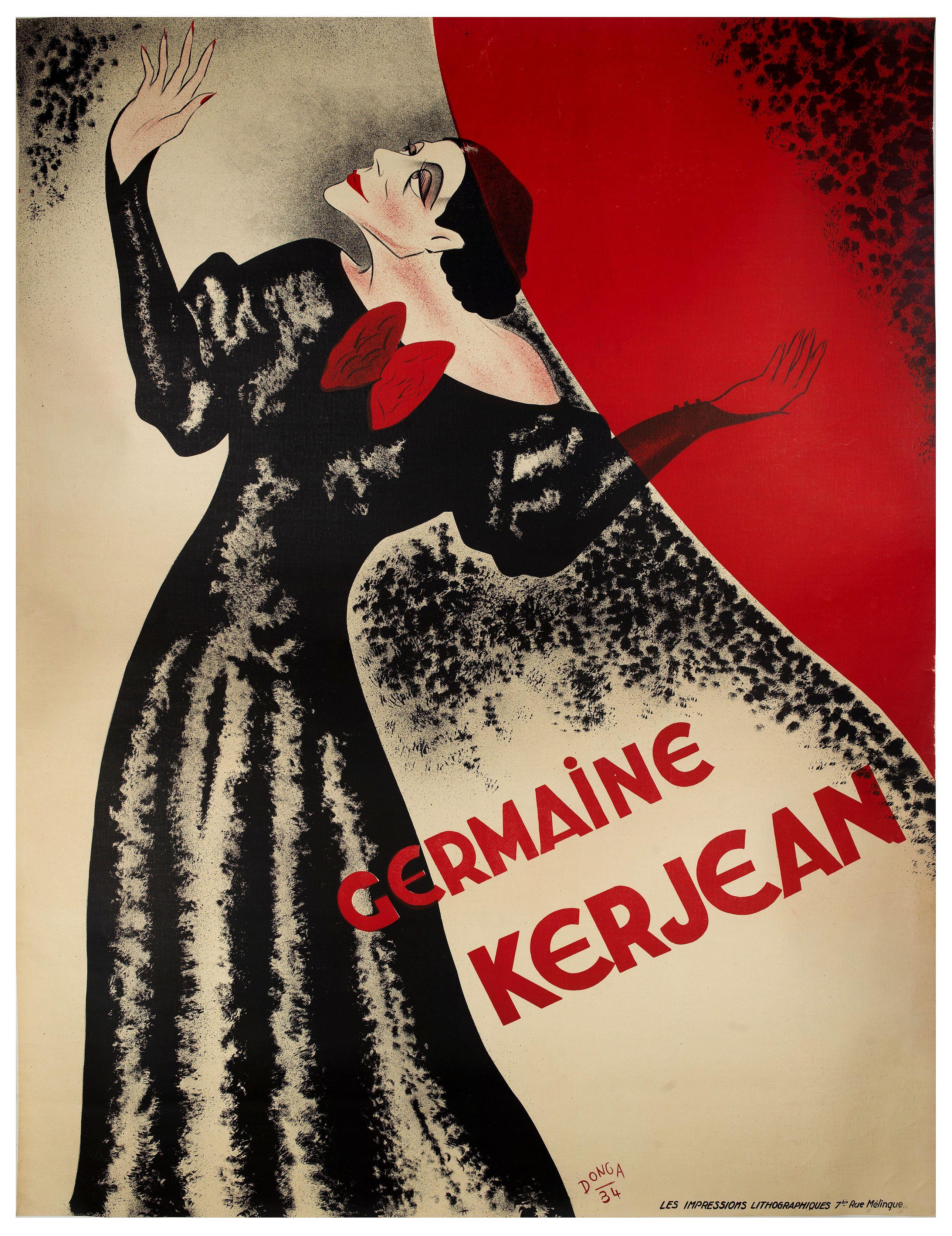 DONGA -  Germaine Kerjean. (Show poster)