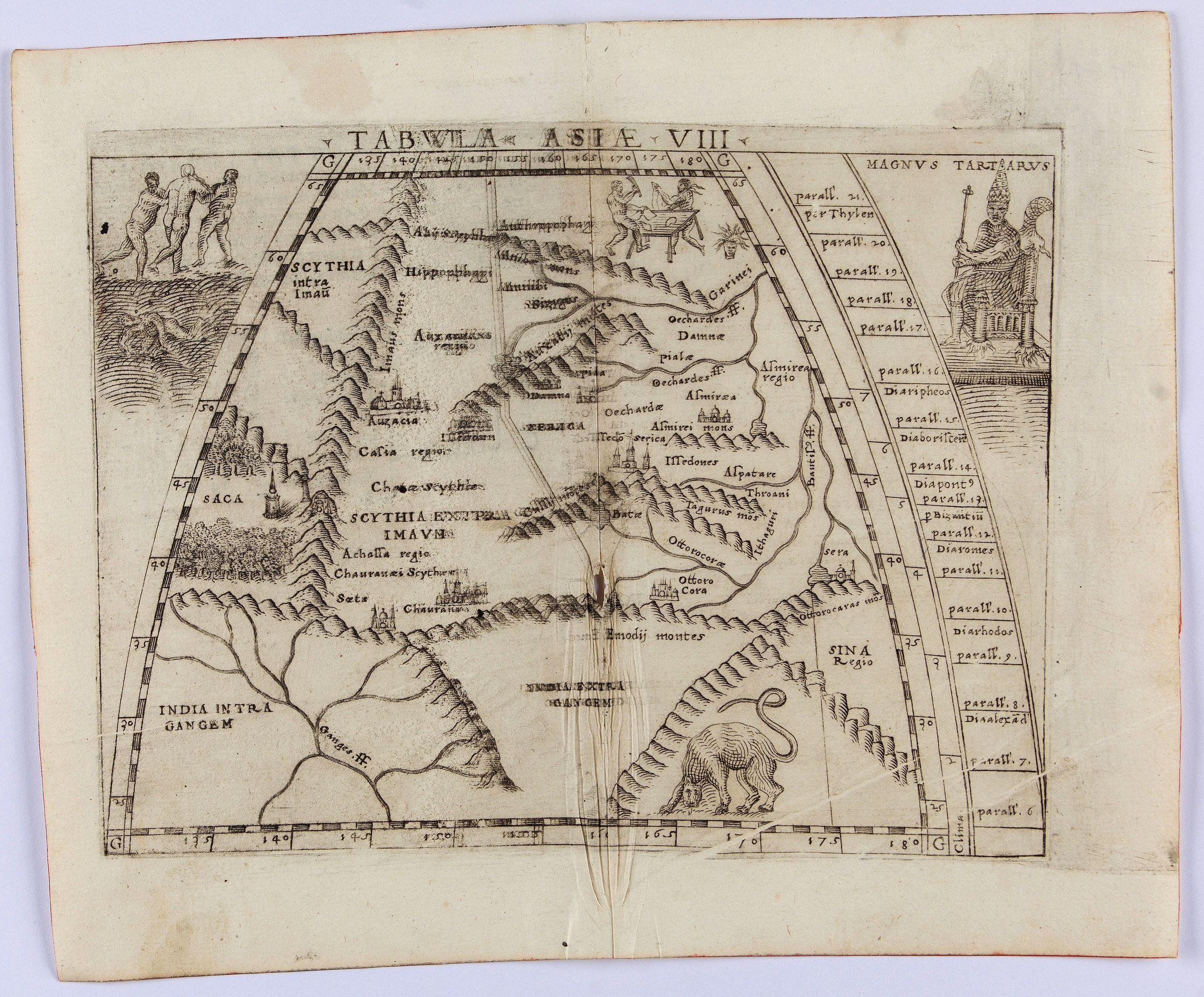 GASTALDI, G. -  Tabula Asiae VIII (India & Central Asia)