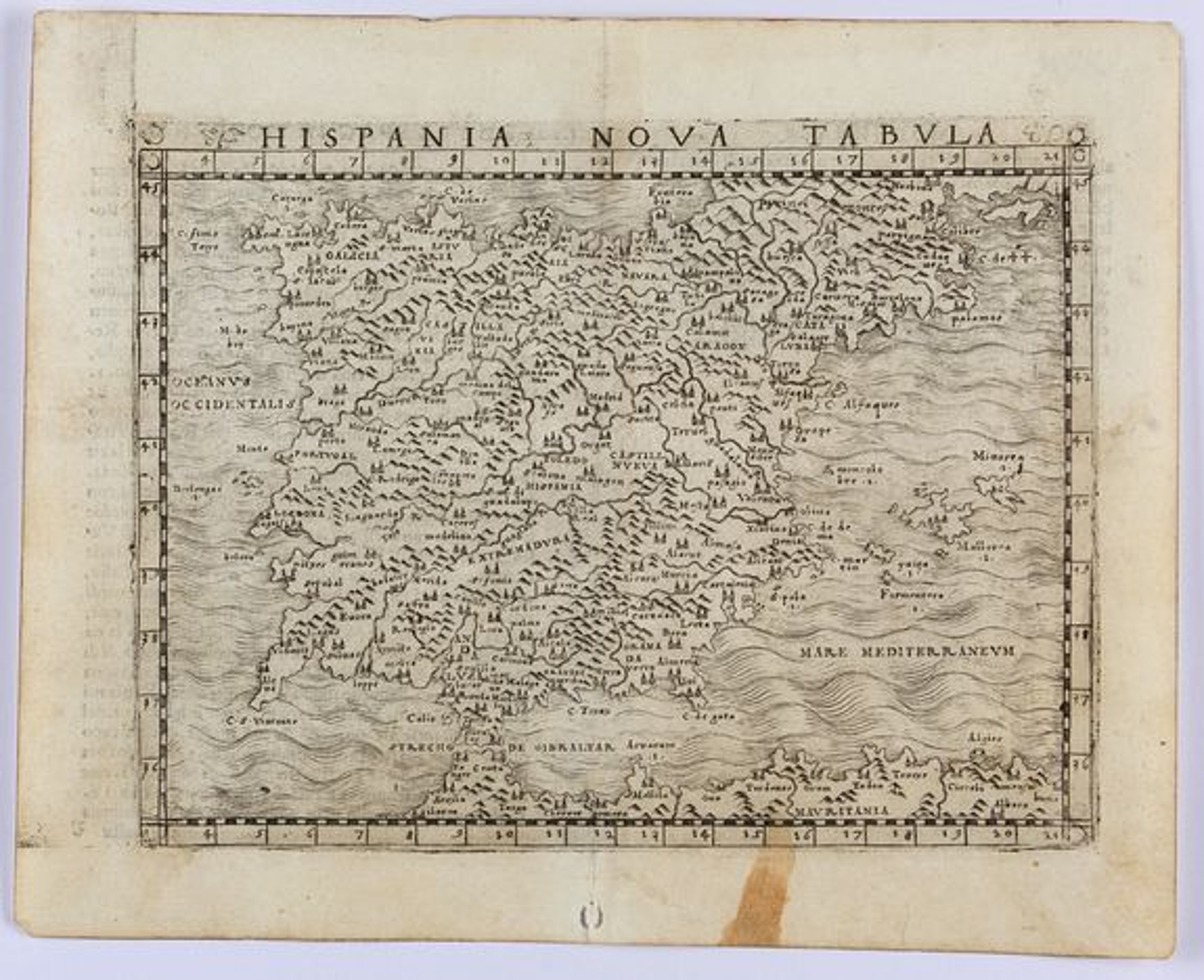GASTALDI, G. -  Hispania Nova Tabula.