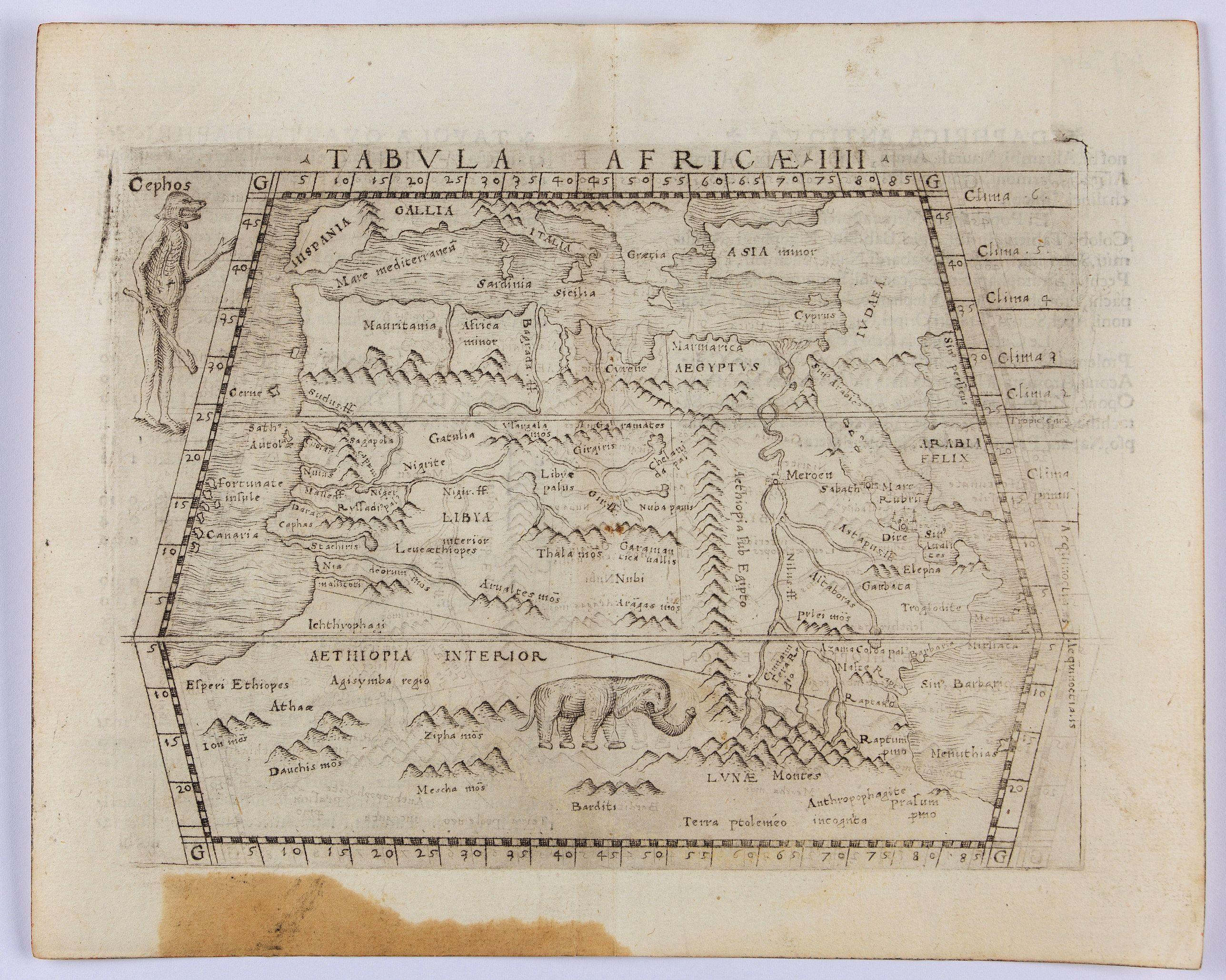 GASTALDI, G. -  Tabula Africae IIII.