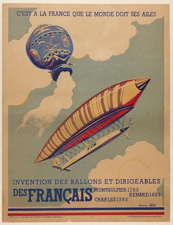 CAVE, L. -  C'est à la France que le monde doit ses ailes. . .