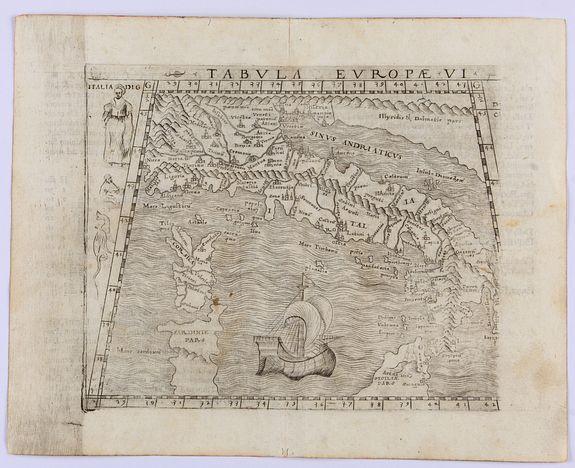 GASTALDI, G. -  Tabula Europae VI. (Italy, Sardinia and Corsica.)