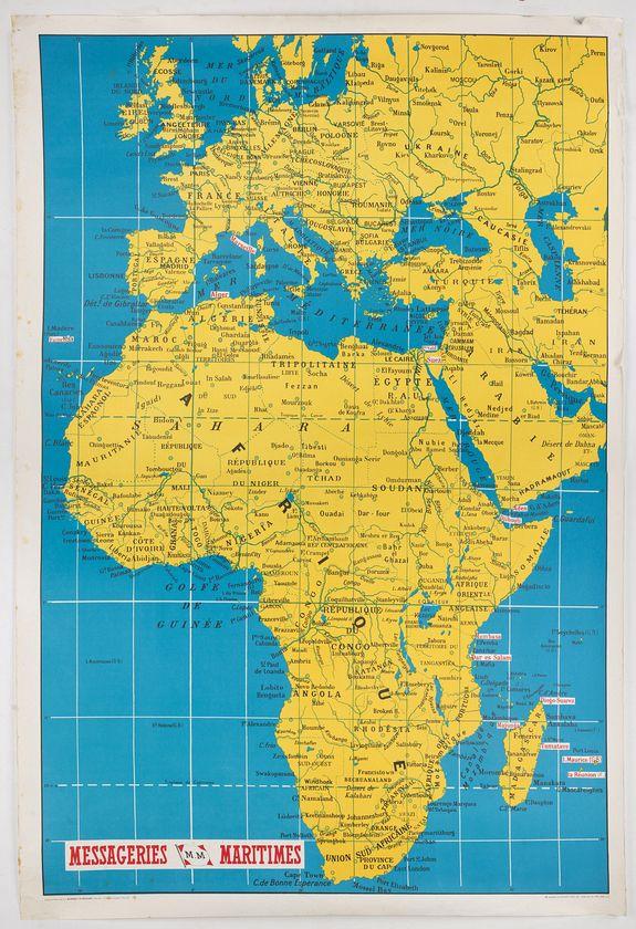 MESSAGERIES MARITIMES -  Les Messageries Maritimes font le tour du monde.