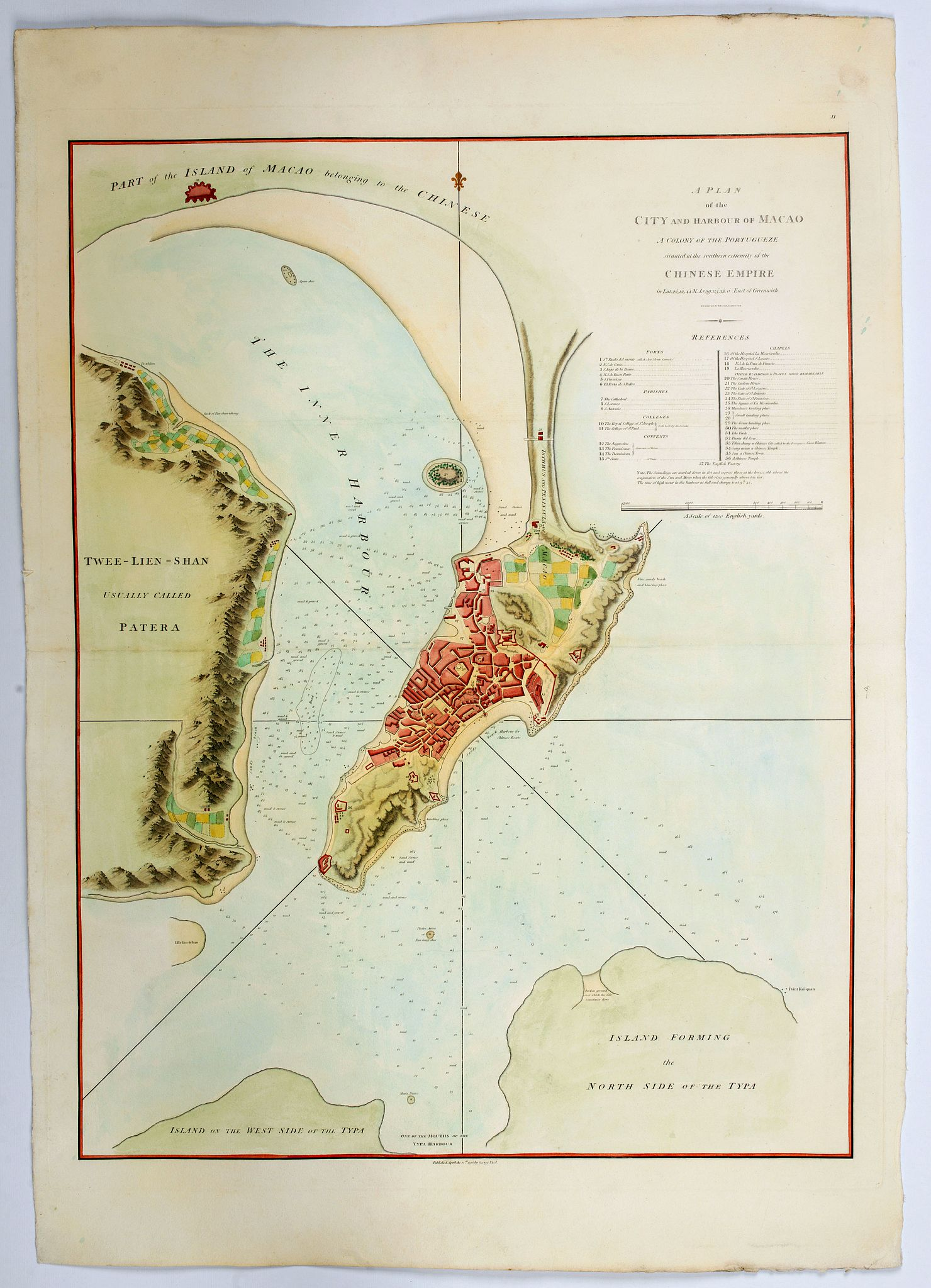 NICOL, G. - A Plan of the city and harbour of Macao : a colony of the Portugueze, situated at the southern extremity of the Chinese Empire. . .