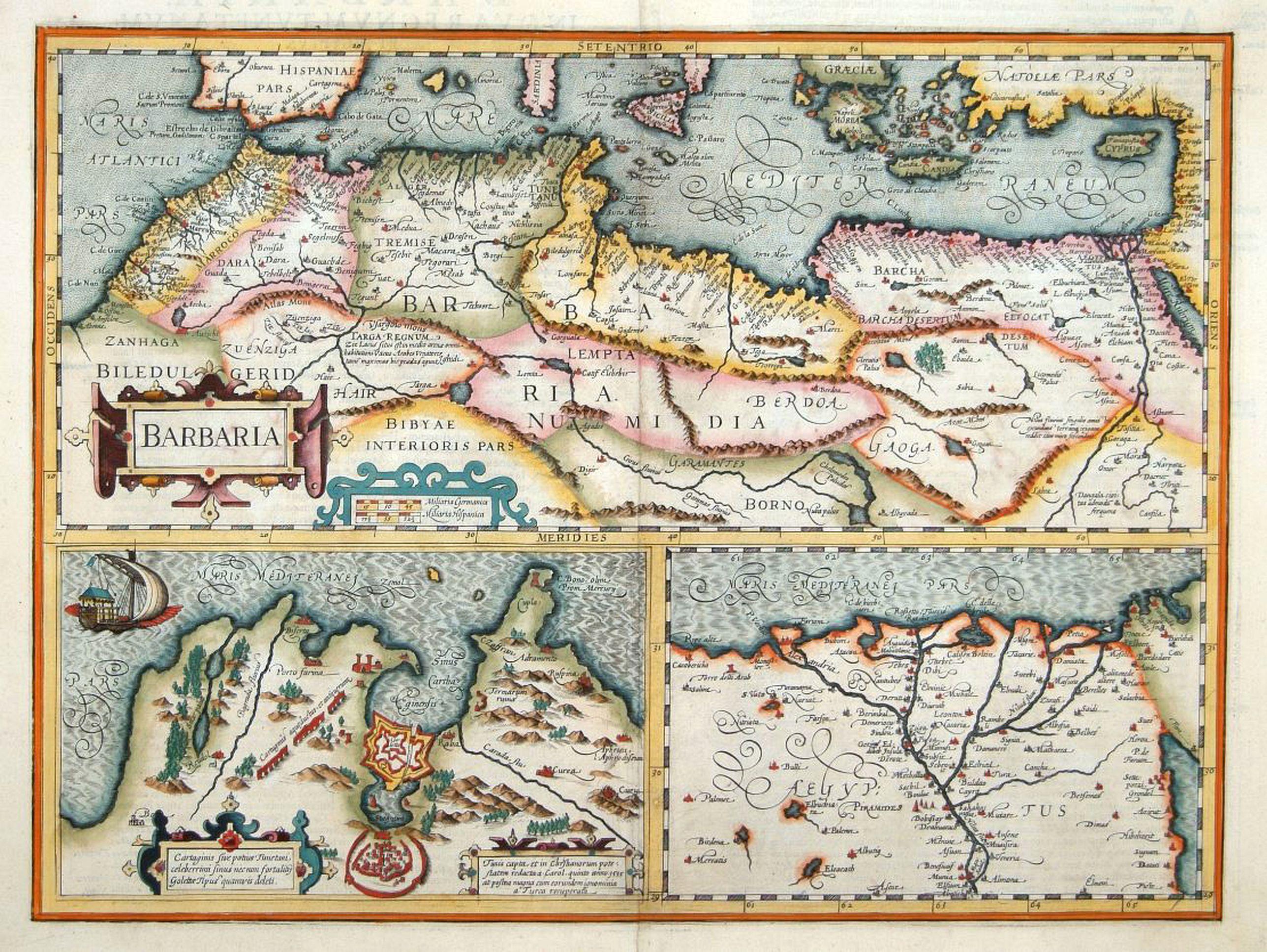 HONDIUS, H. -  Barbaria. / Egypt / Tunesia.